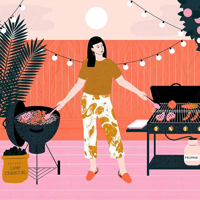 🌞 Its grilling season in the states! Had lots of fun working on this one for @thekitchn 🔥 . . . . #editorialillustration #womenwhodraw #womenwhodrawwomen #thekitchn