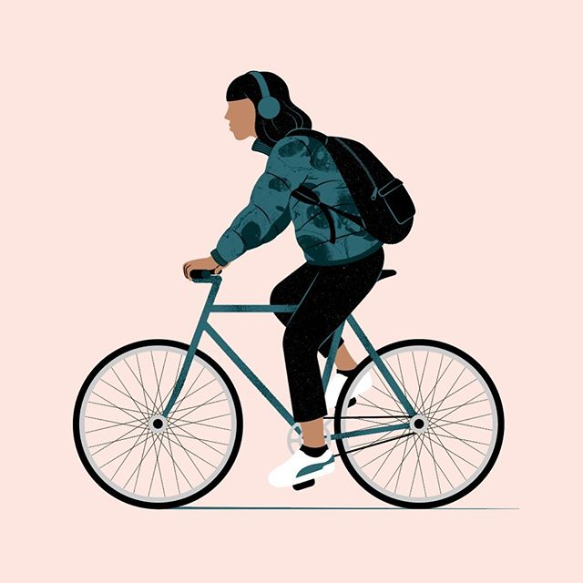 Riding in Melbourne winter ❄️ really want this jacket and these shoes 👟 . . . . . #melbournewinter #winterinmelbourne #rideyourbike #vectorillustration #womenwhodraw