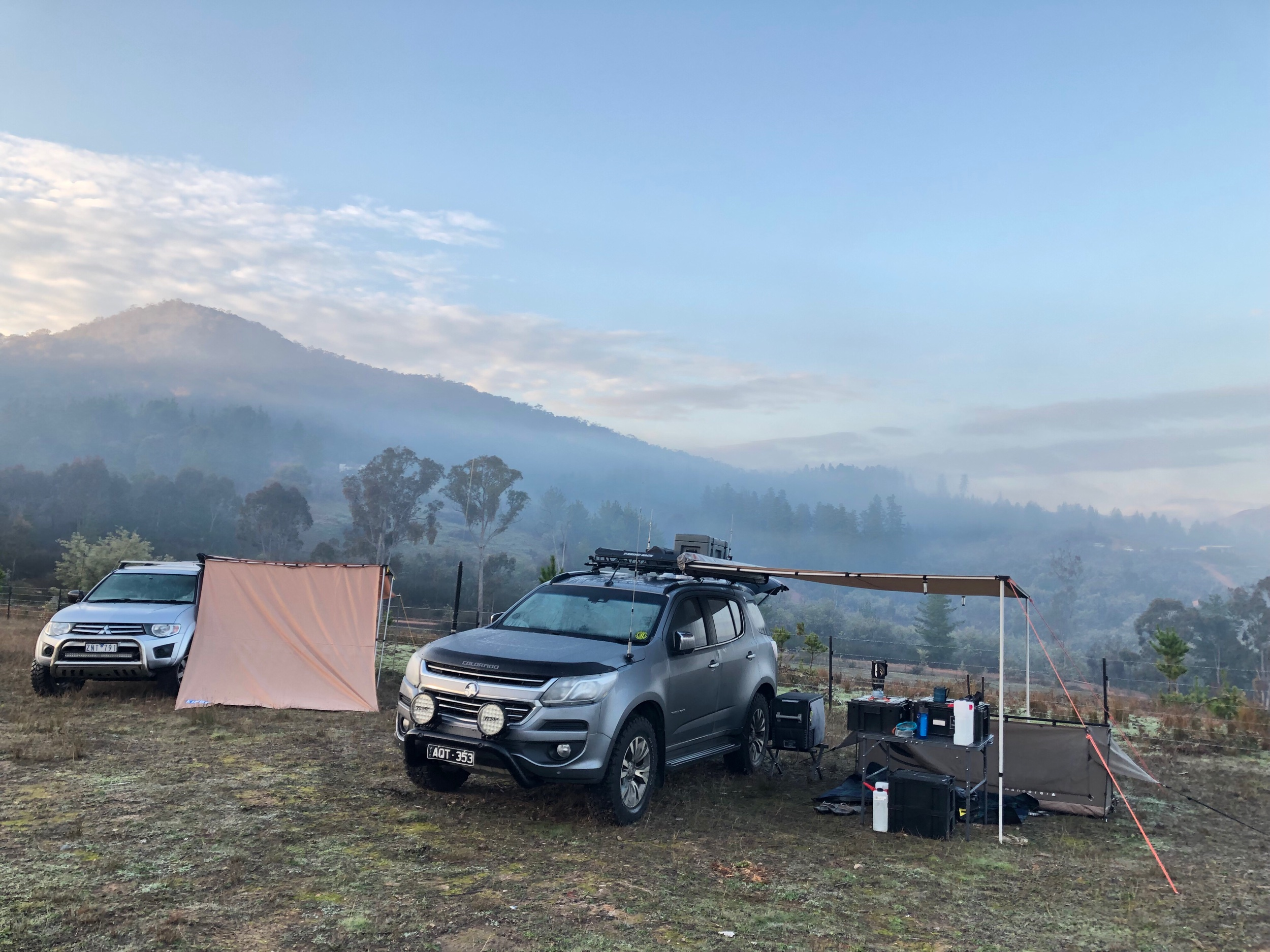 Our camp site - VK3MDH & VK3MRG