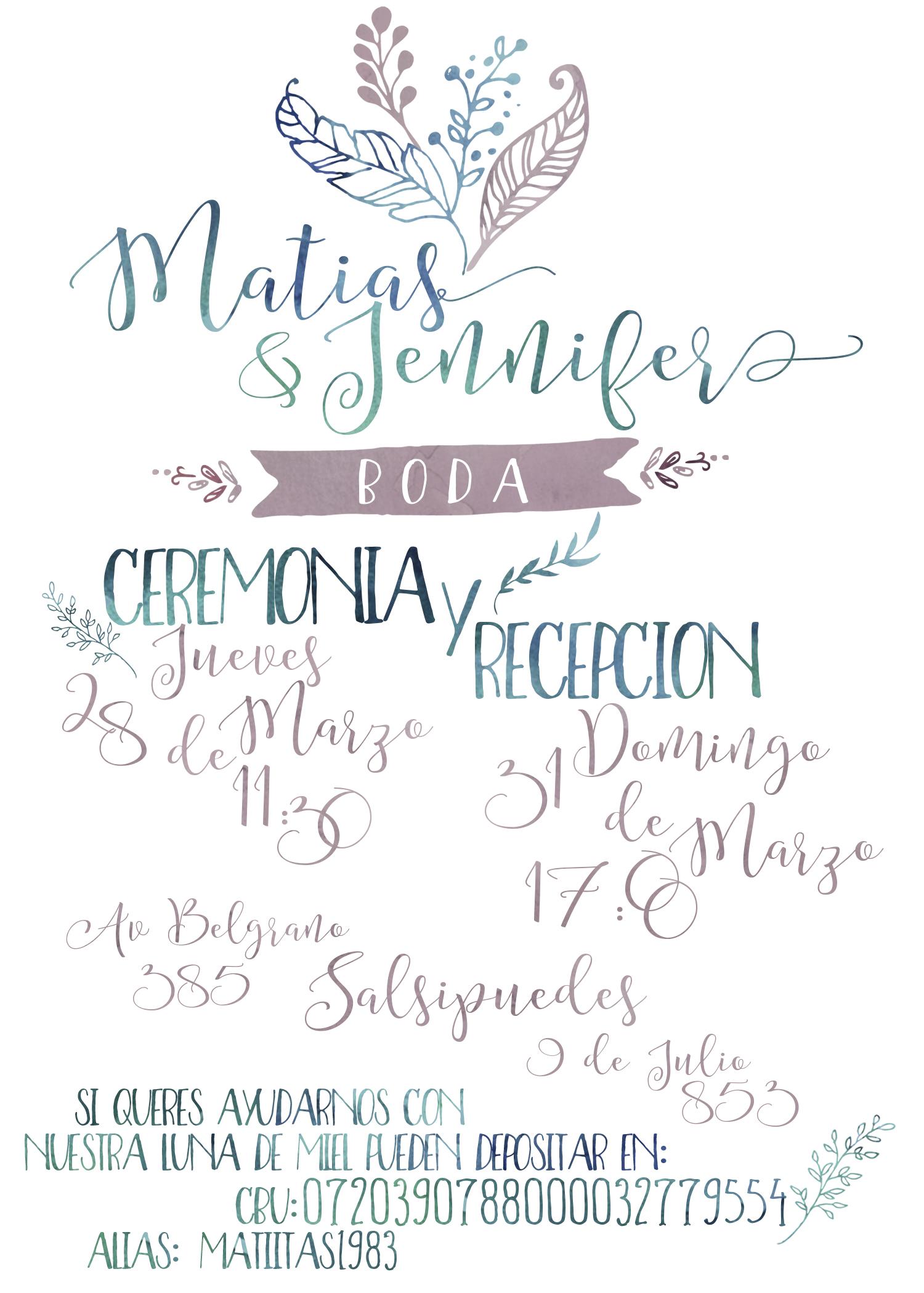 Wedding Invitation // Invitaciones de Boda