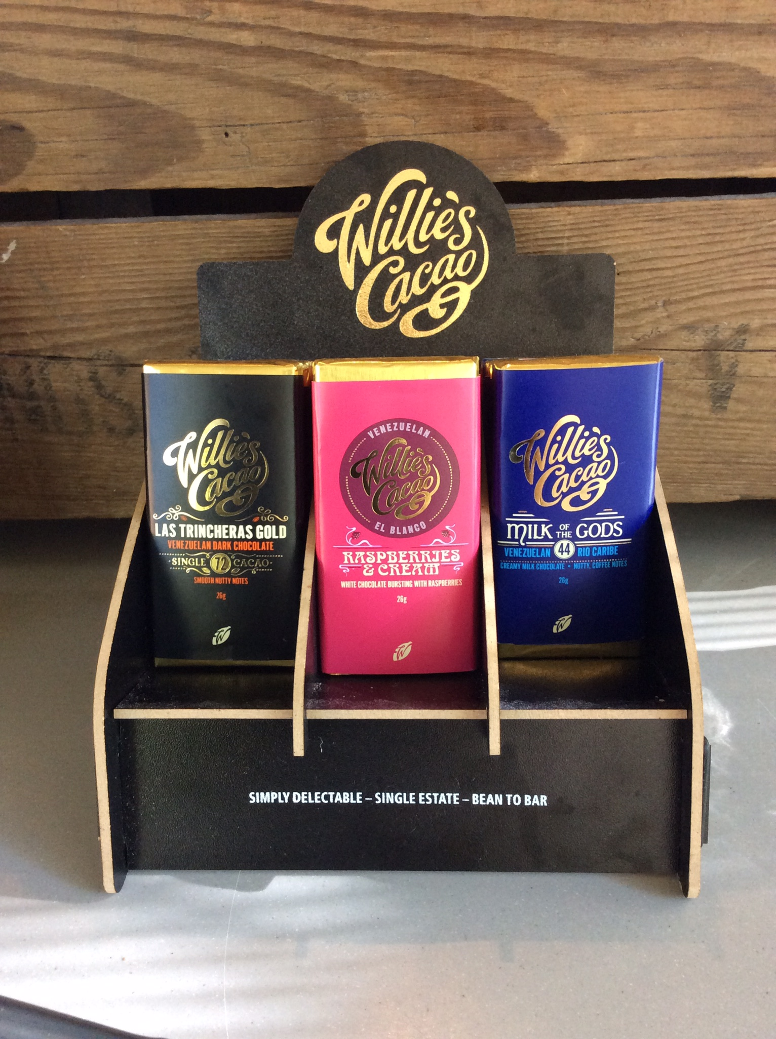 Willies cacao chocolate bars Manchester the whitworth cafe