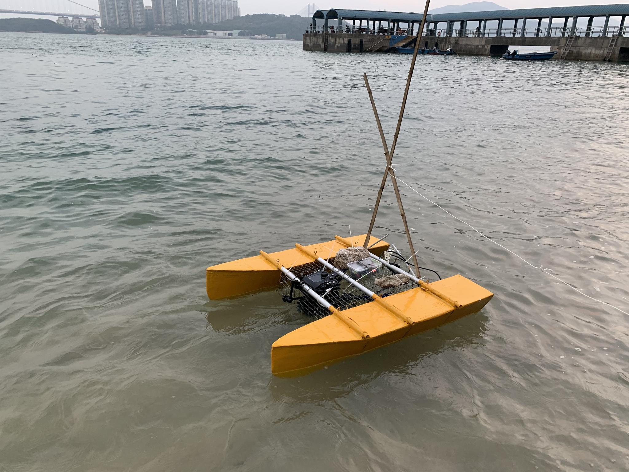 """Scoutbot Mustard"" in Hong Kong, Winter 2019."