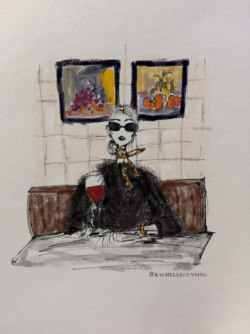"""*  Commission  * """"Vin Rouge"""". April '18. Paris. FR   (print available)"""