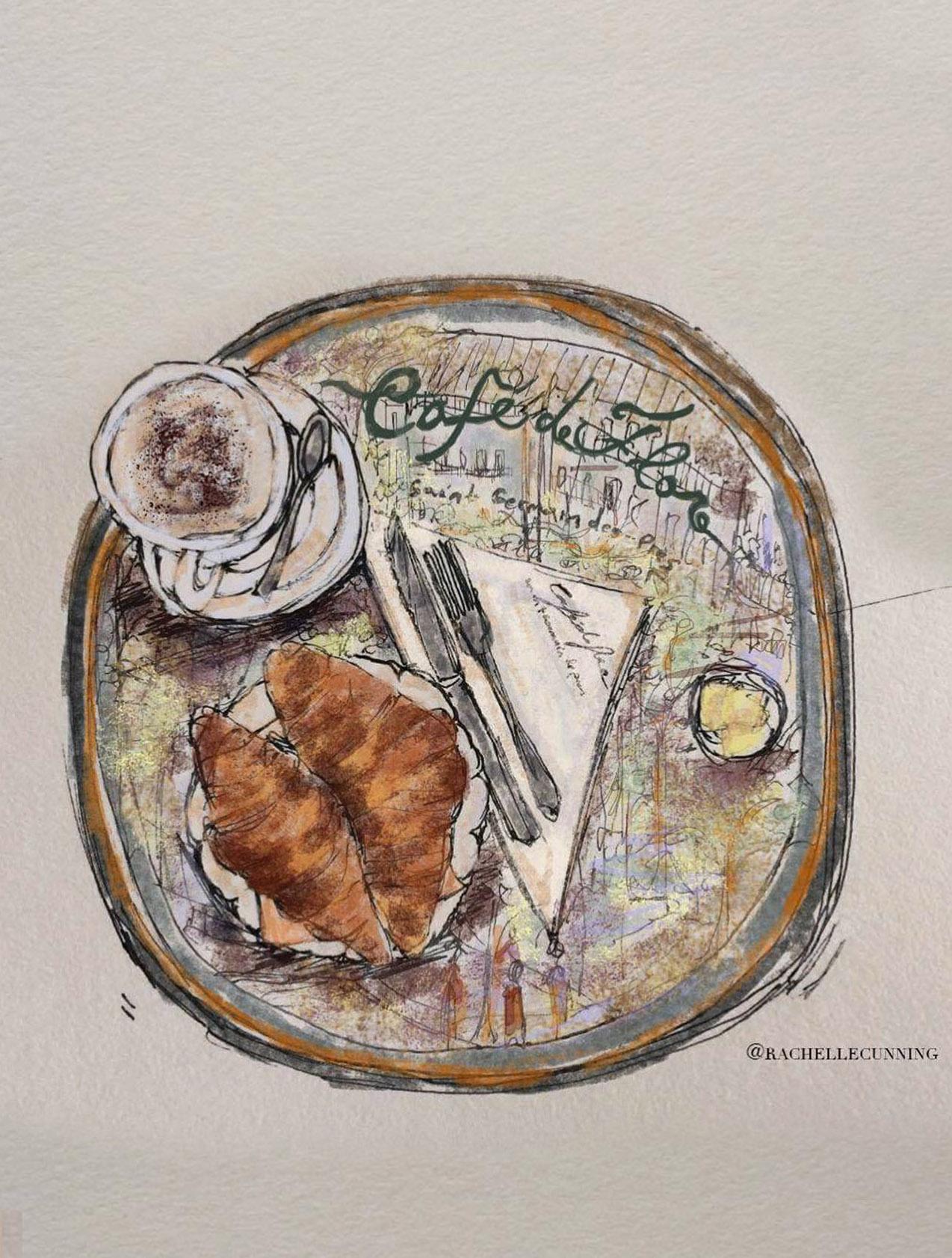 """*  Work  * for Cafe de Flore. """"Cafe de Flore"""". April'18. Paris. FR.  (print available)"""