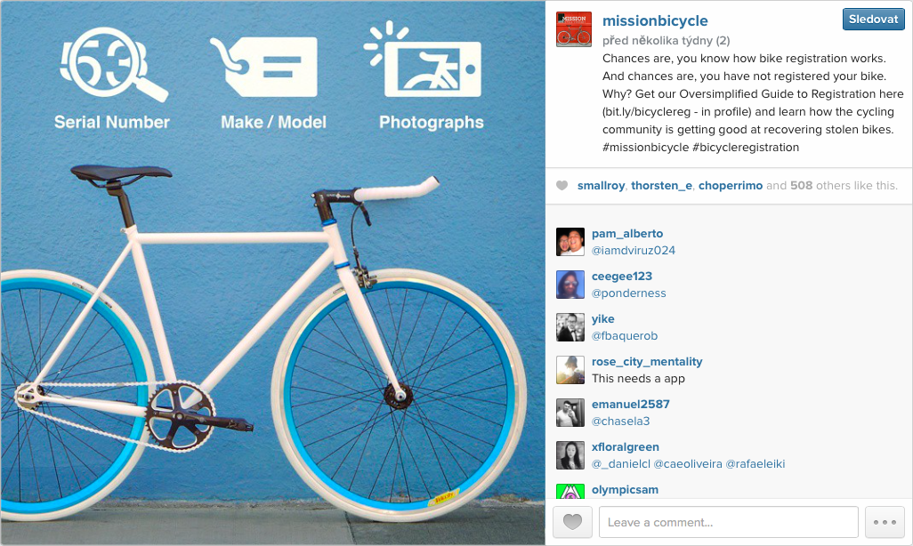 Marketing—Mission Bicycle on Instagram