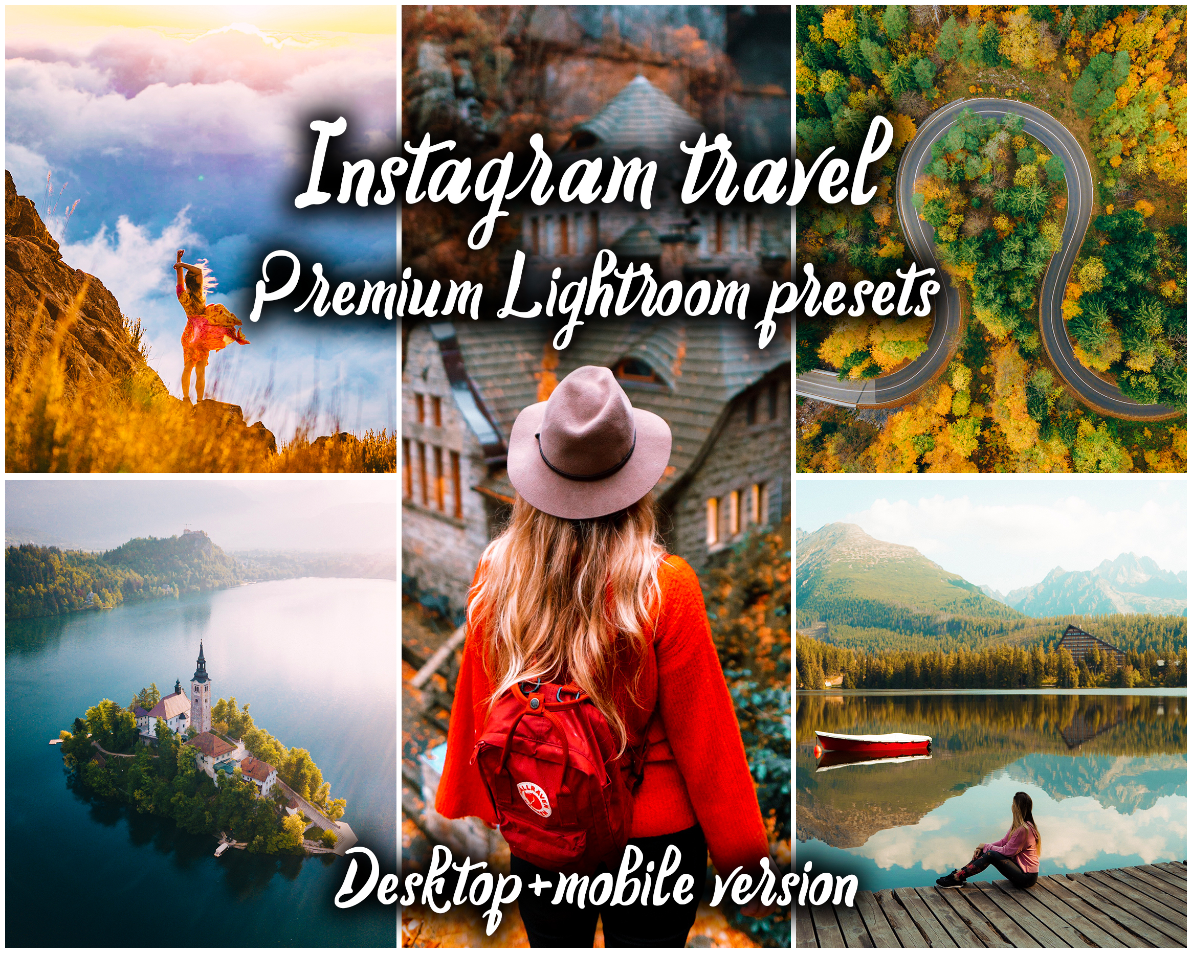 18 Mobile & Desktop Adobe Lightroom presets - Instagram travel premium pack - YOU NEED ADOBE CC SUBSCRIPTION PLAN OR ADOBE LIGHTROOM CLASSIC V7 AND ABOVE TO USE THE PRESETS. They are in the format of XMP file and they are suitable specifically for use in Lightroom CC Mobile & Desktop app with a subscription or/and Lightroom Classic V6 and above. Works on iOS and Android.