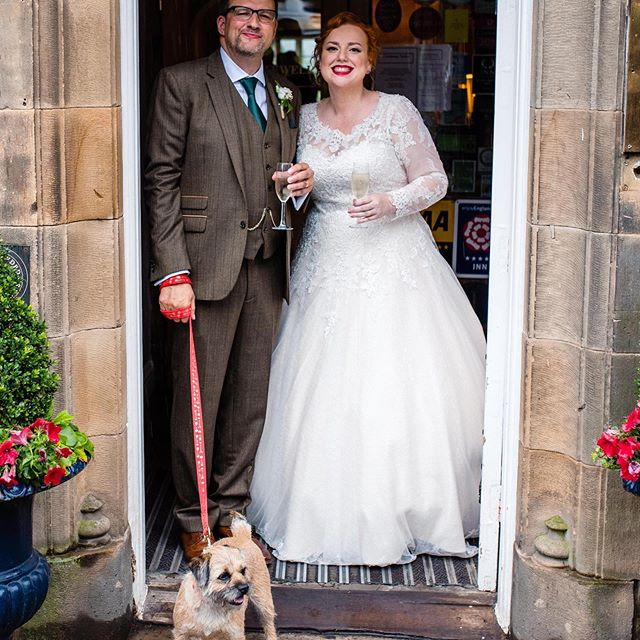 These are the moments when our business feels purposeful ❤️ Gracie is modelling our lead and collar at  Clare & Nigel's Lancashire wedding.  Congratulations to both of you!  #weddingmoments #weddingpup #love