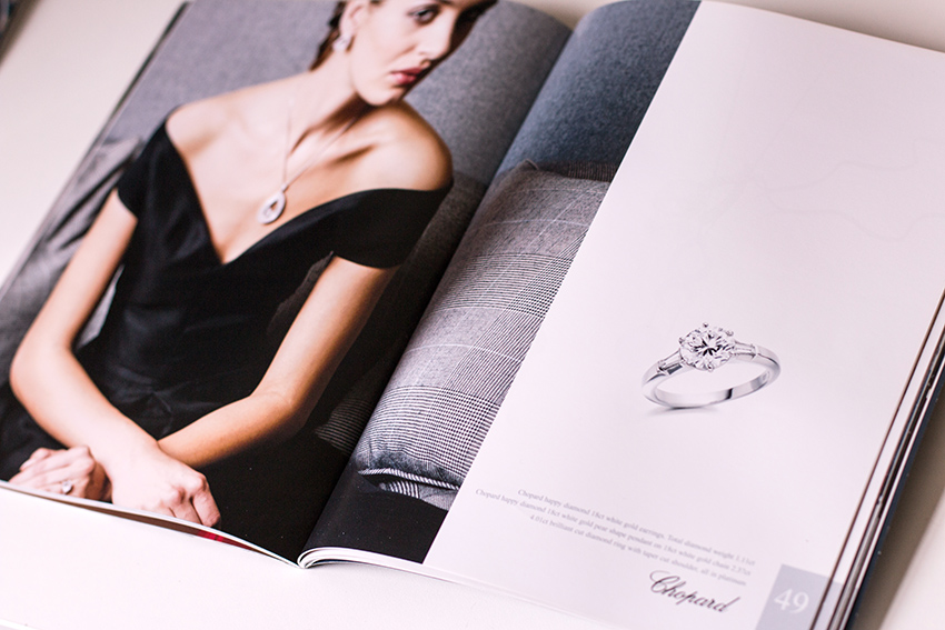 CAPTURING ELEGANCE FOR ERIC N SMITH - Photography, design, media and brochure work to communicate the upscale cosmopolitan feel of the award-winning Glasgow based designer, showcasing ways to wear and the detail of fine diamond pieces.