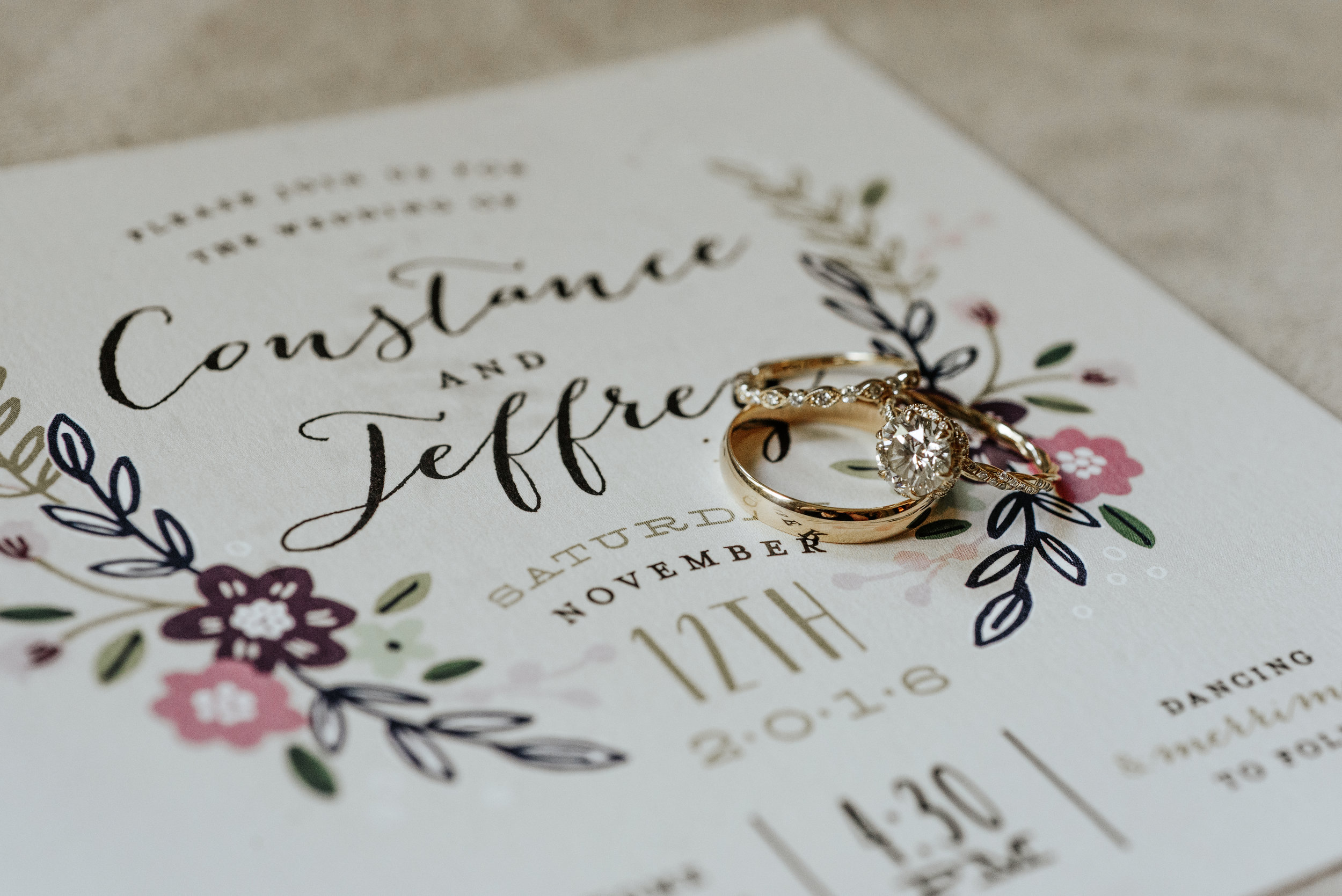 Southern Fete, Southern Wedding, Wedding rings, Save the dates, Hannah Mulligan Photography, Event Rental
