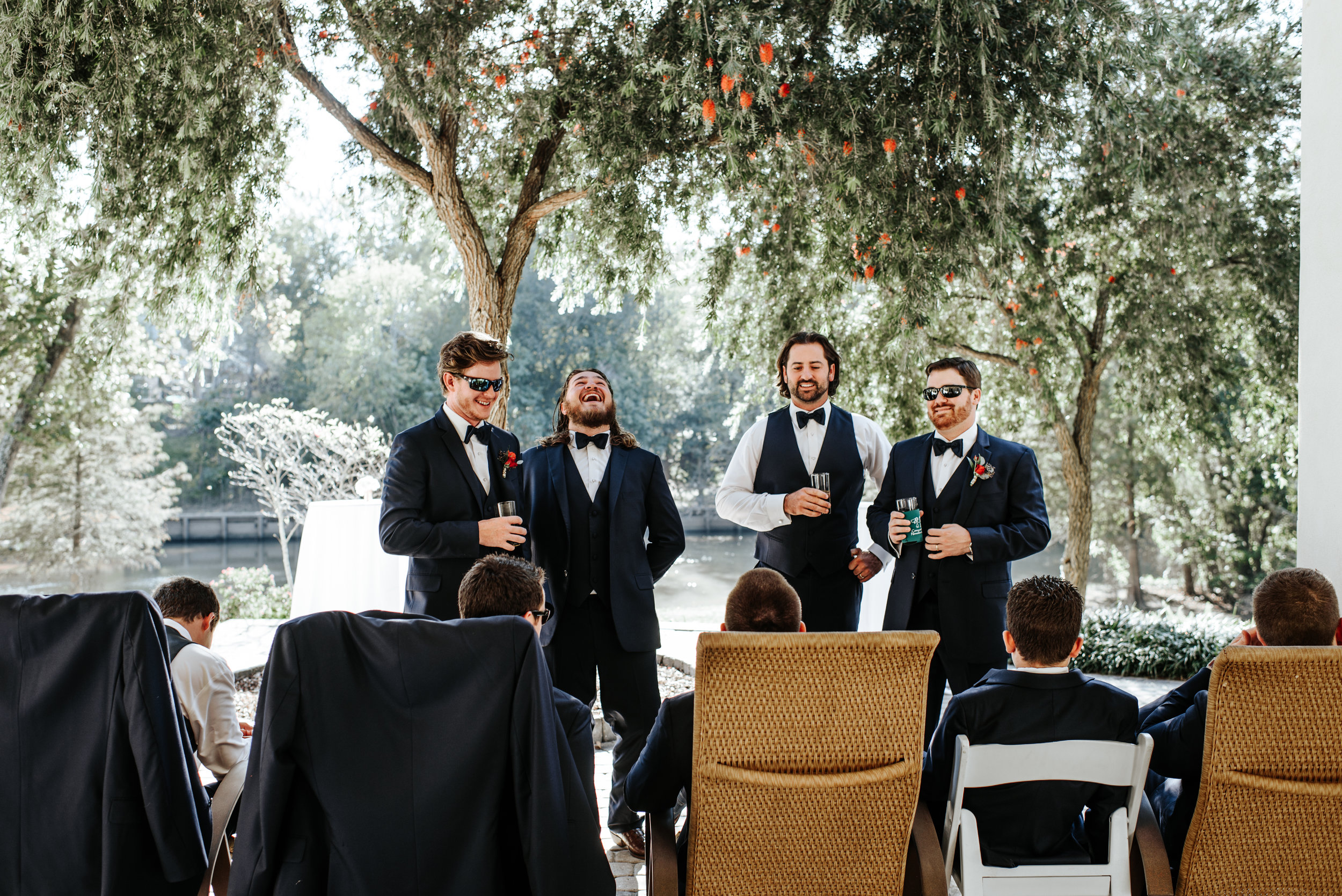 Southern Fete, Southern Wedding, Groom and Groomsman, Hannah Mulligan Photography