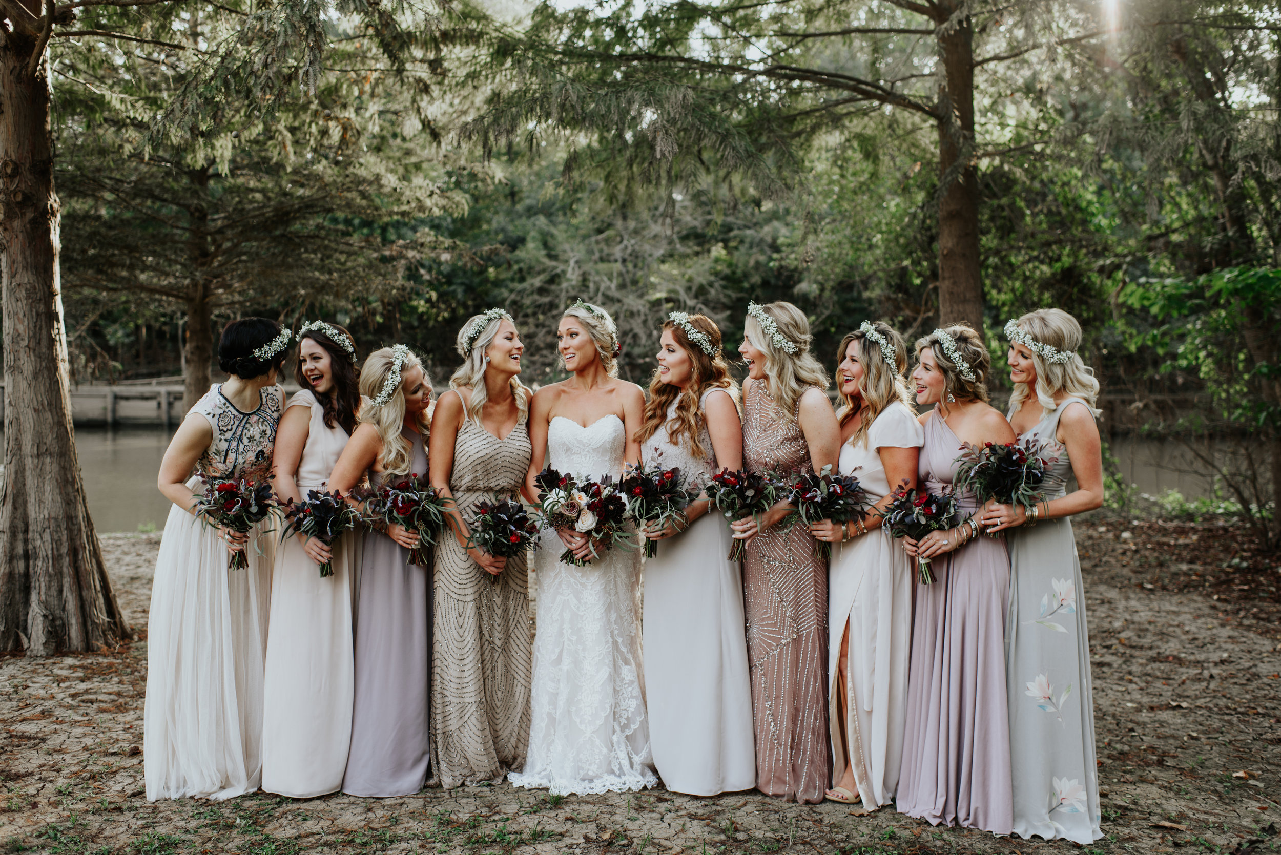 Southern Fete, Southern Wedding, Root Floral Design, Bridesmaid dresses, Hannah Mulligan Photography