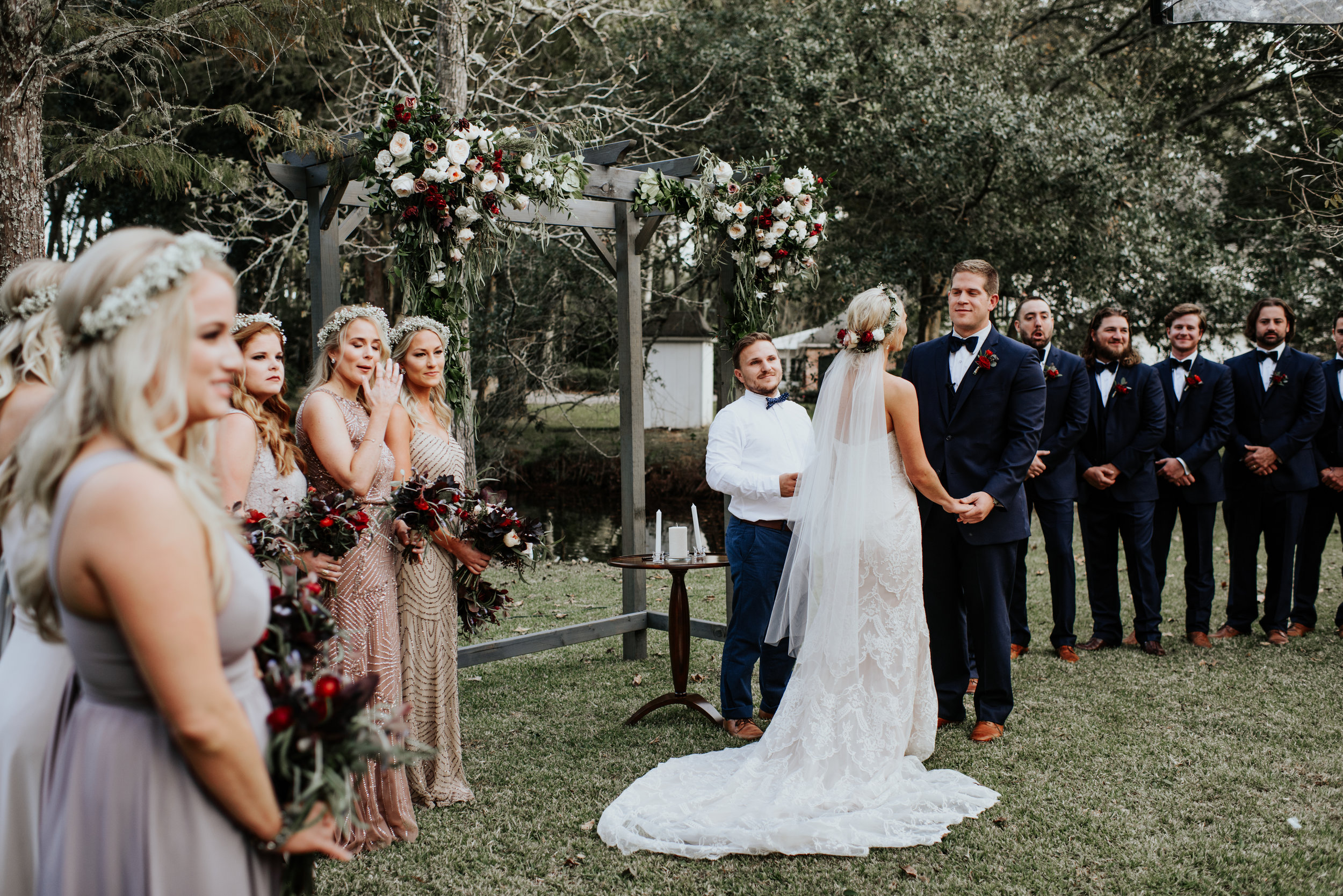 Southern Fete, Southern Wedding, Outside Wedding, Ceremony, Hannah Mulligan Photography, Root Floral Design