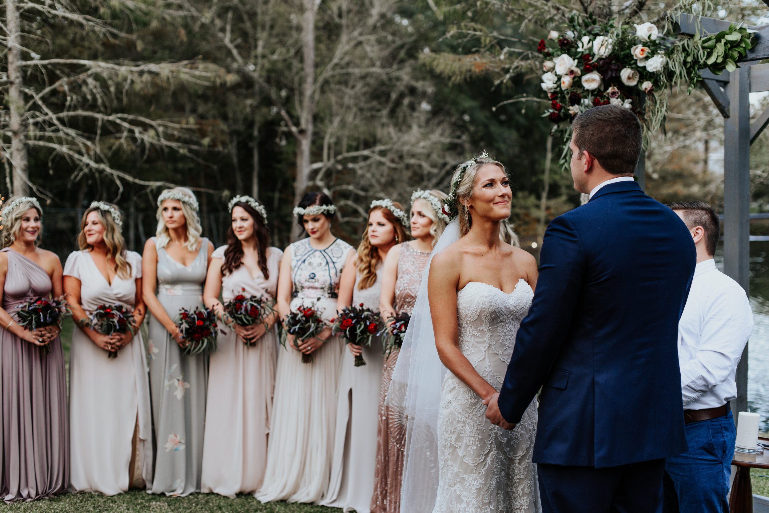 Southern Fete, Southern Wedding, Outside Wedding, Root Floral Design, Hannah Mulligan Photography, Ceremony