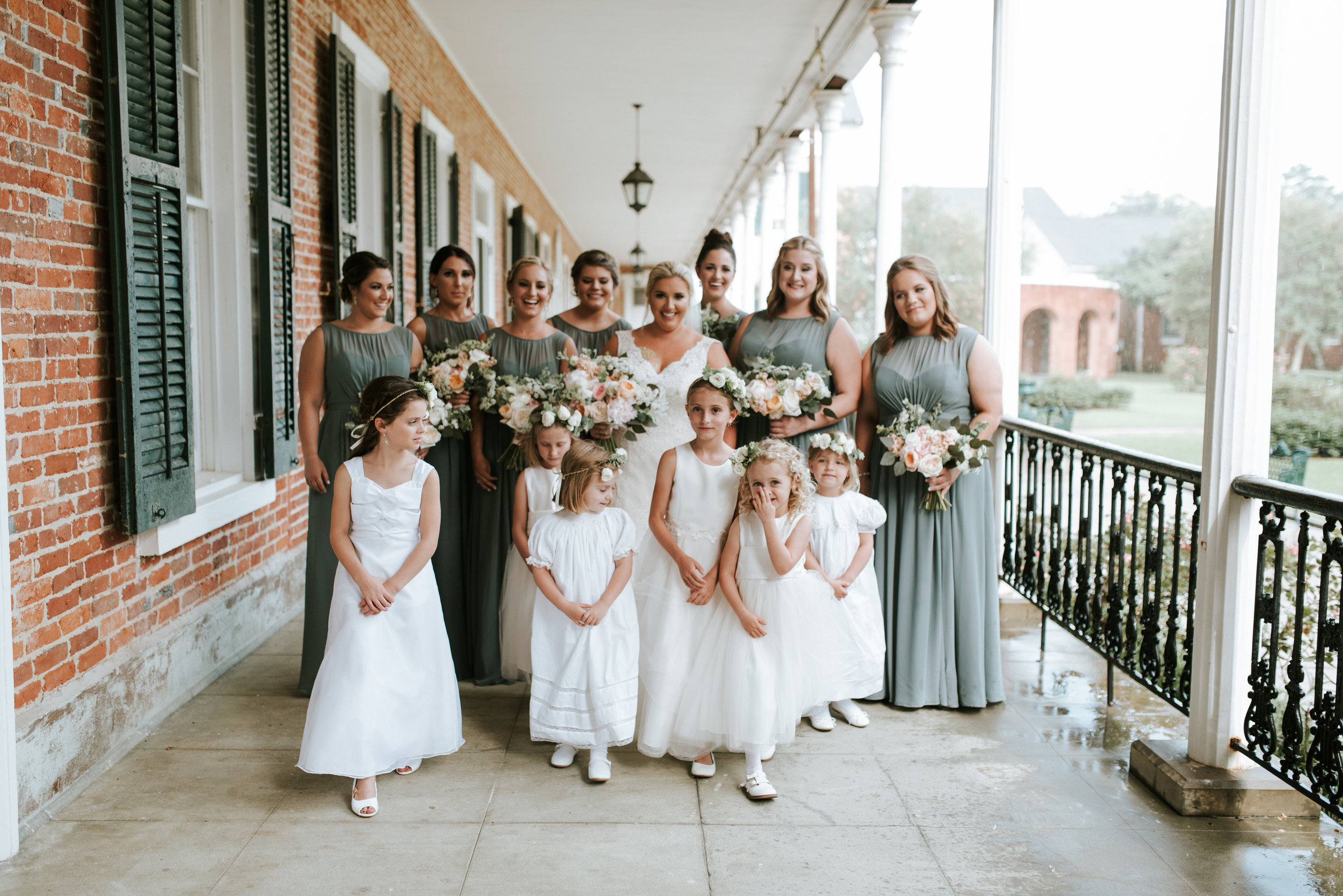 Southern Fete, Southern Wedding, Bridal Party, Root Floral Design, Hannah Mulligan Photography