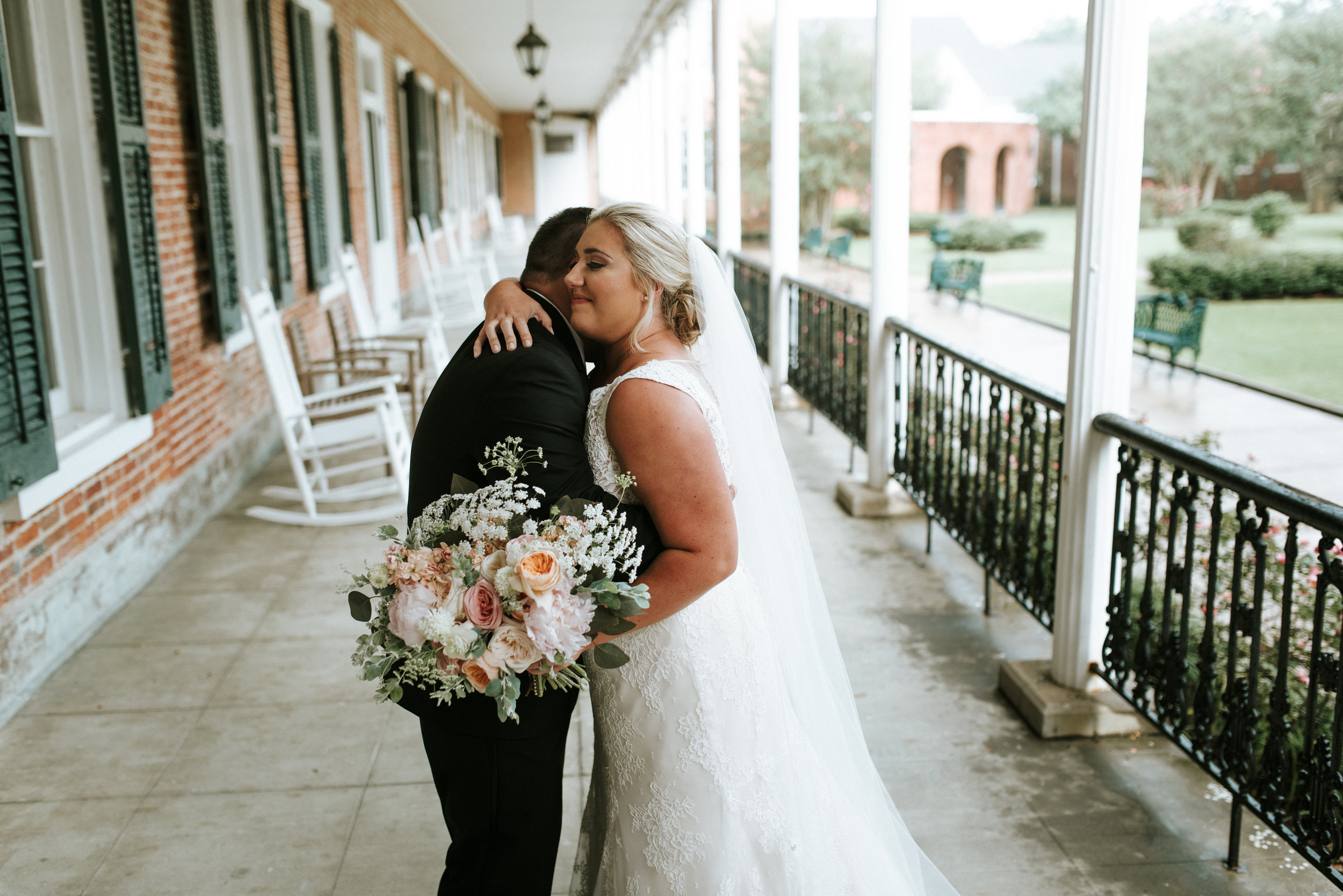 Southern Fete, Southern Wedding, Root Floral Design, Bride and Groom