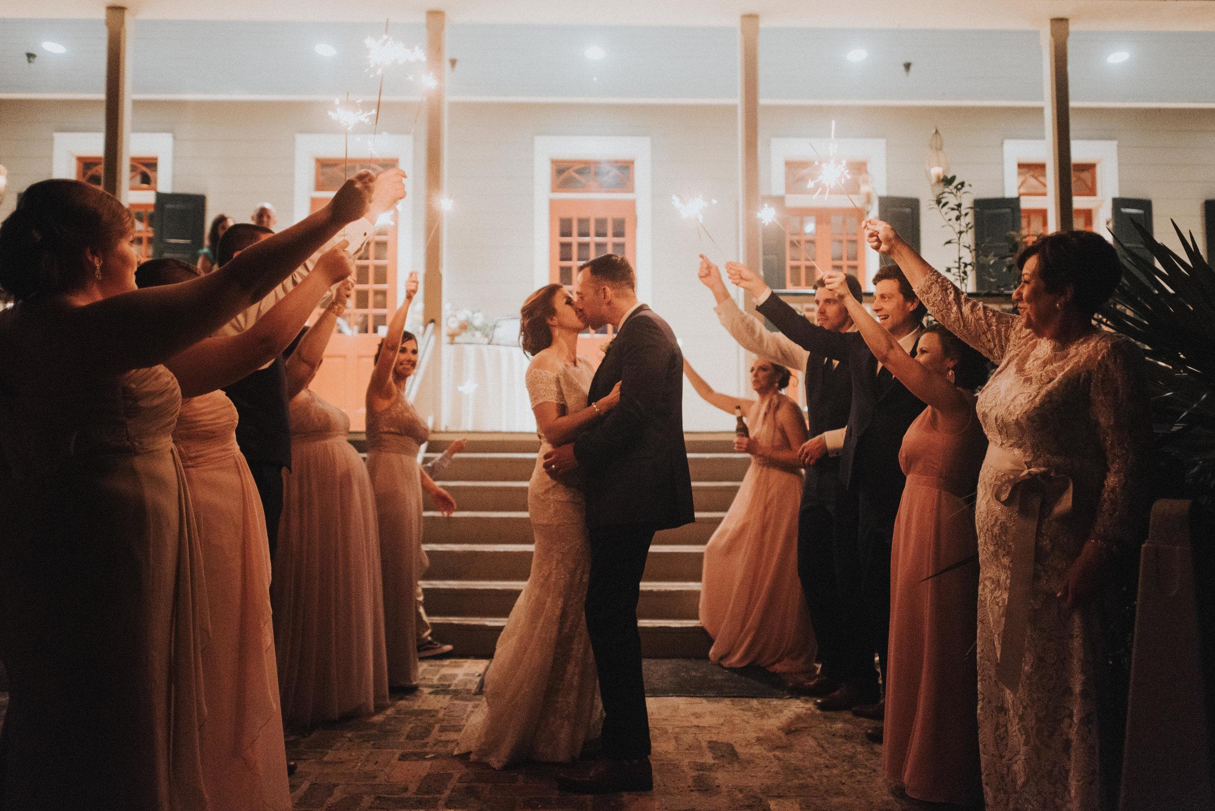 Southern Fete, Southern Wedding, Aaron Lane Entertainment, T'Monde, Reception party, Sparkler exit