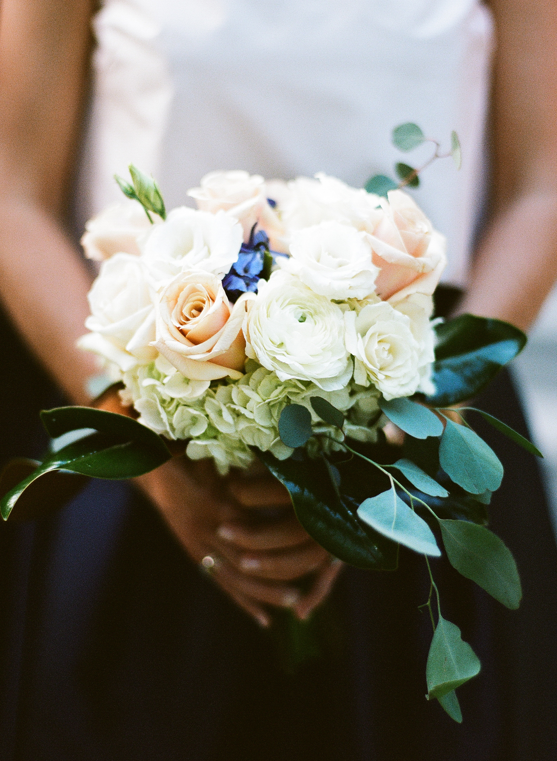 Southern Fete, Southern Wedding, Flowers by Rodney, White, Blush and Green Floral Bouquet