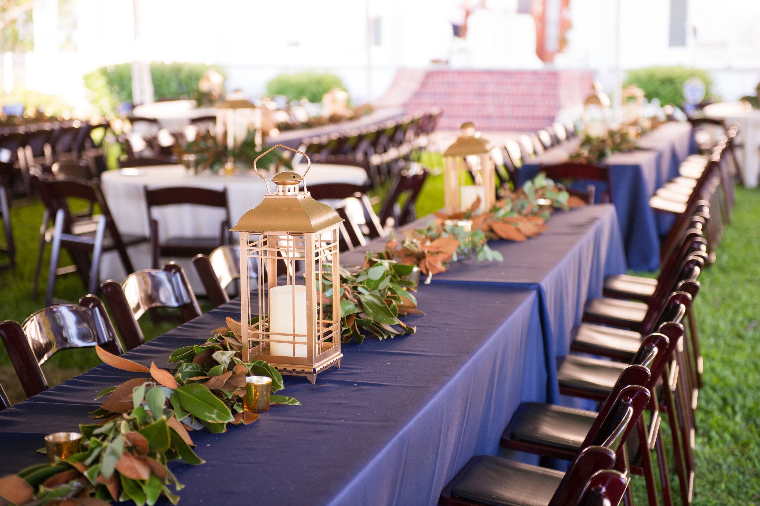 Southern Fete, Southern Wedding, Candle Center Piece, Catherine Guidry Photography, Reception Table