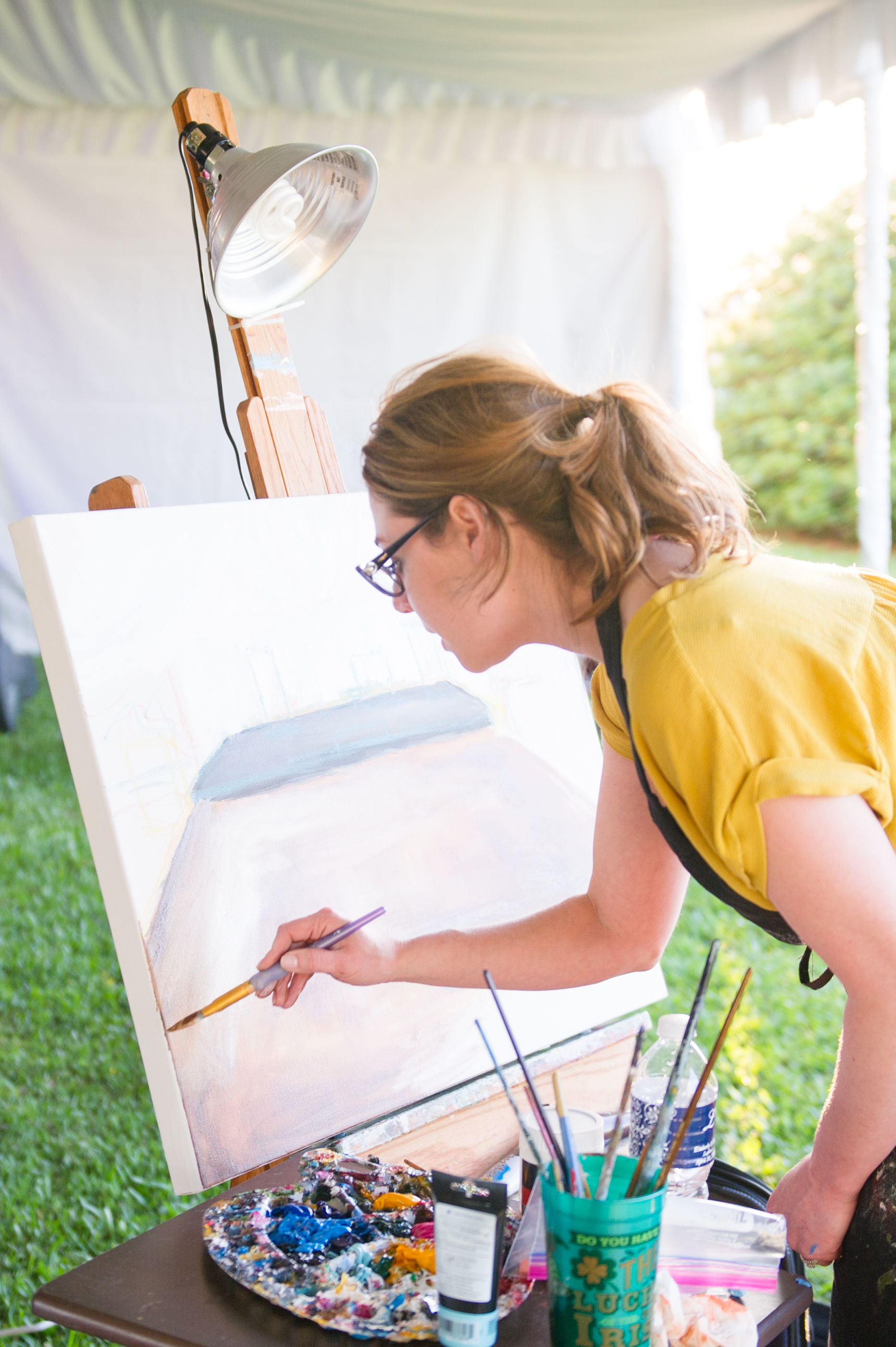 Southern Fete, Southern Wedding, Wedding Painting, Catherine Guidry Photography