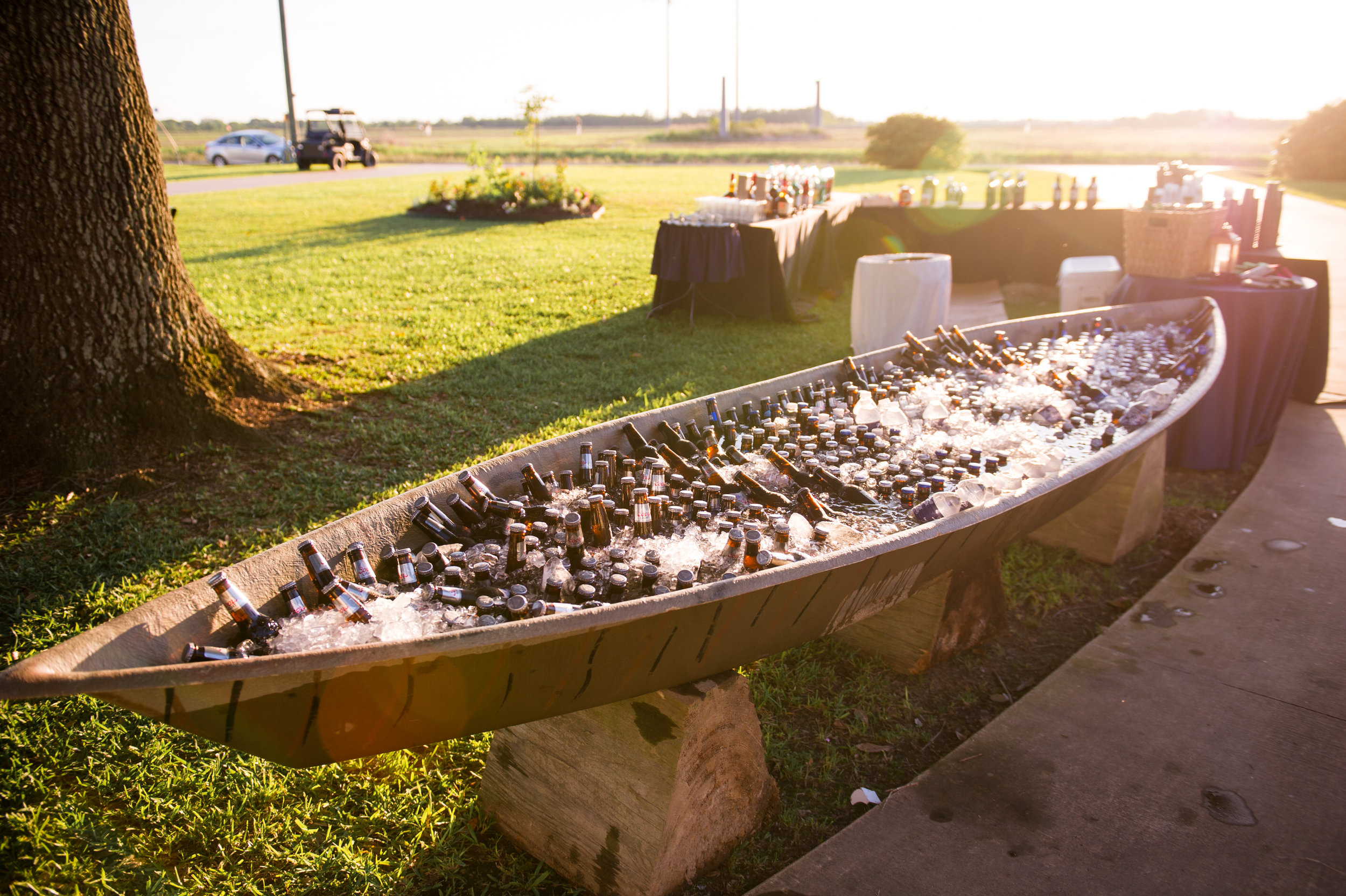 Southern Fete, Southern Wedding, Canoe of Ice Cold Beers, Catherine Guidry Photography