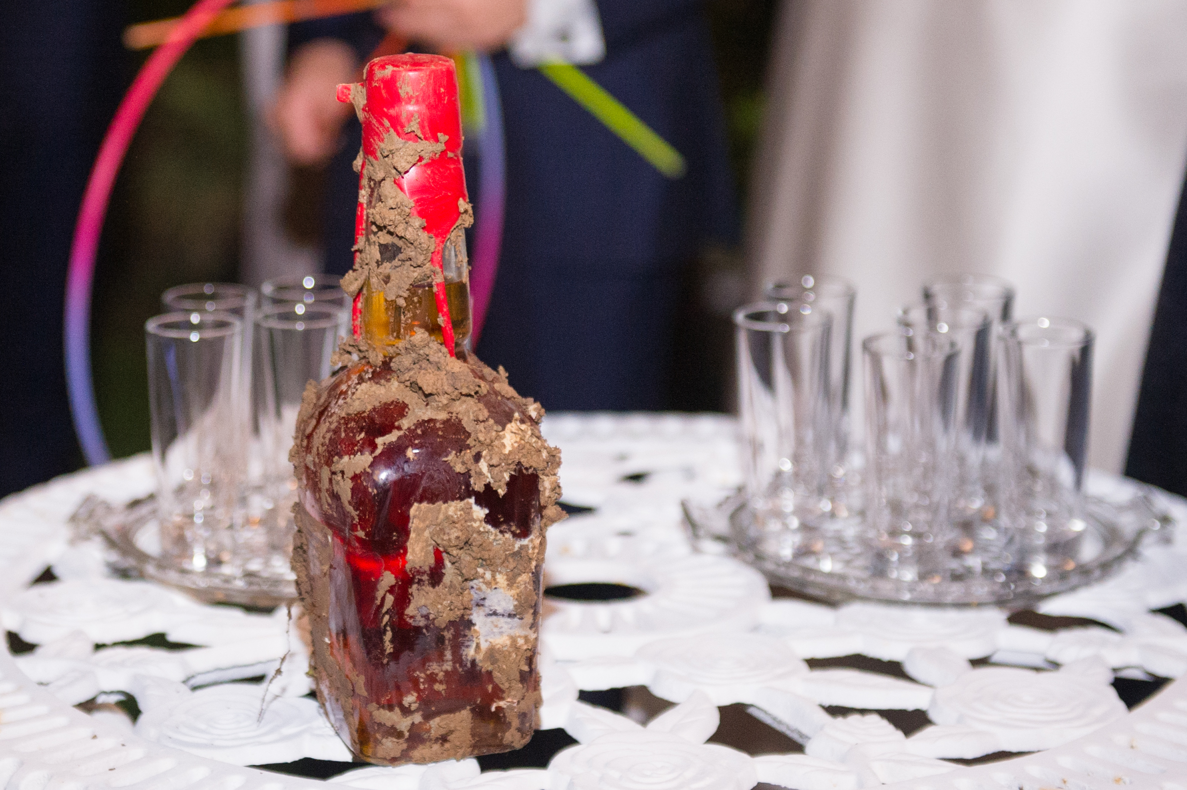 Southern Fete, Southern Wedding, Old Alcohol Bottle, Catherine Guidry Photography