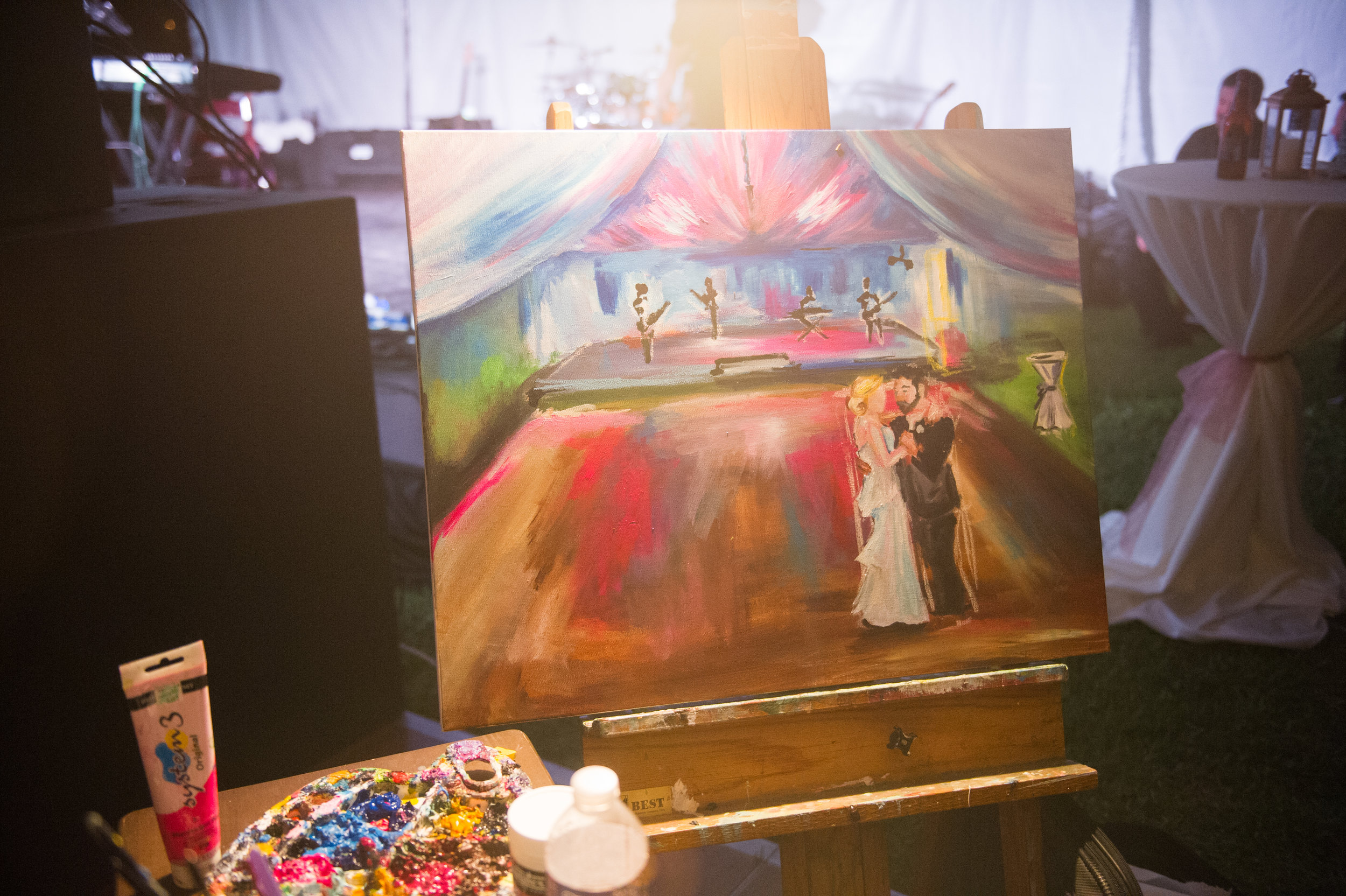 Southern Fete, Southern Wedding, Painting, Catherine Guidry Photography