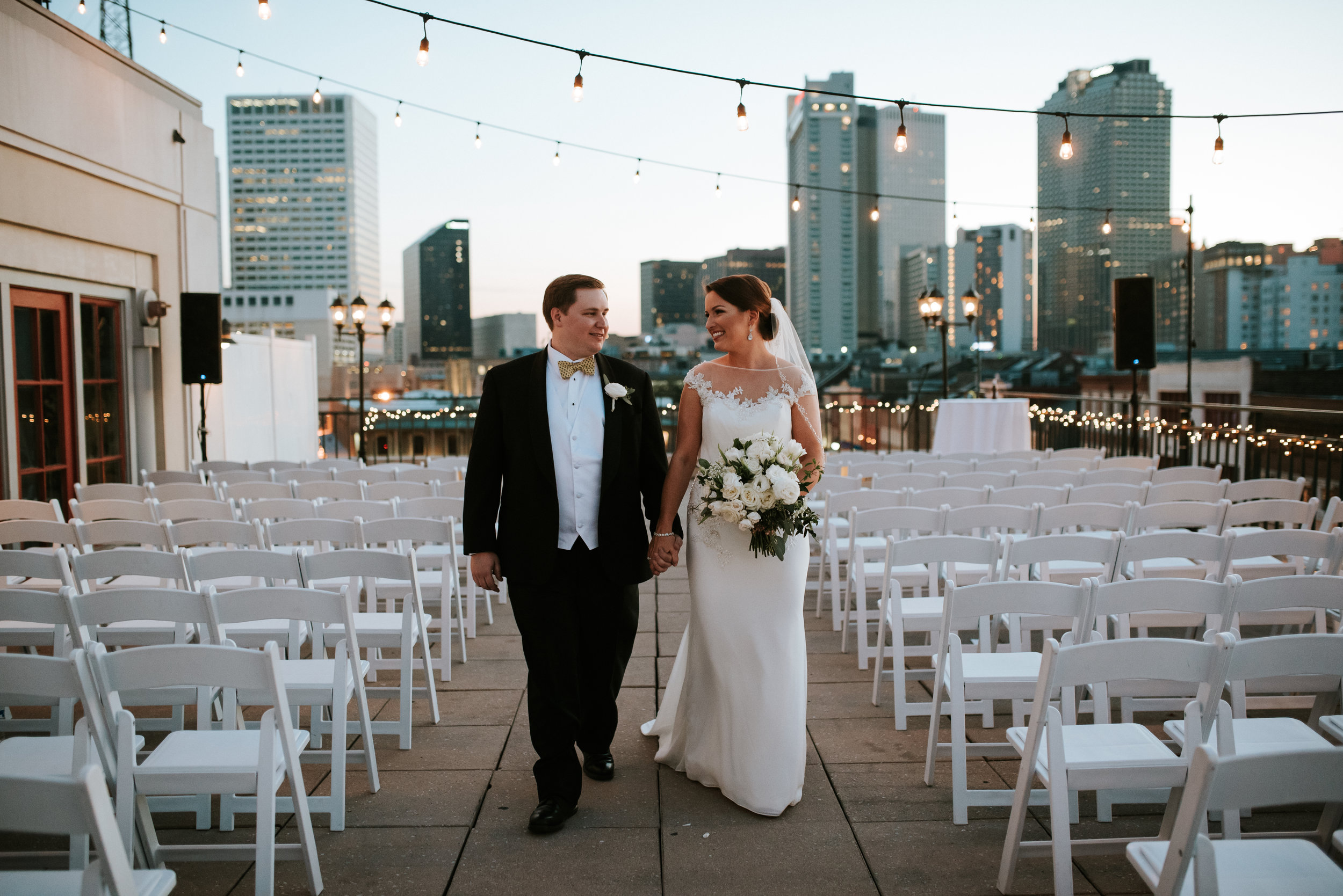 Southern Fete, Southern Wedding, Bride and Groom, Riverview Room, Hannah Mulligan Photography