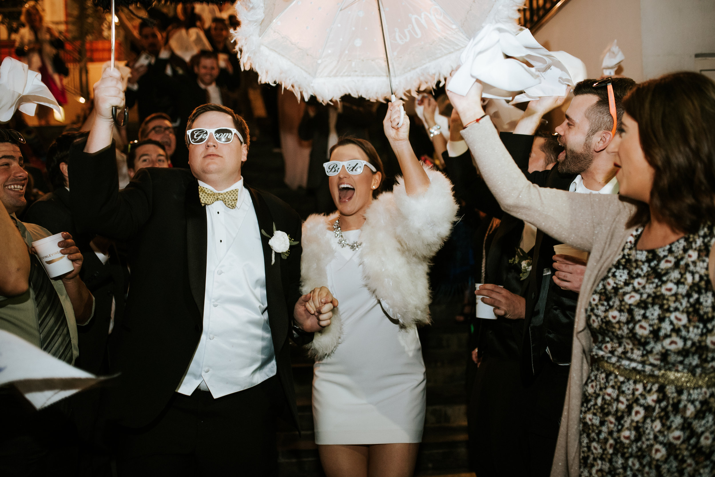 Southern Fete, Southern Wedding, Bride and Groom, Wedding Umbrella, Hannah Mulligan Photography
