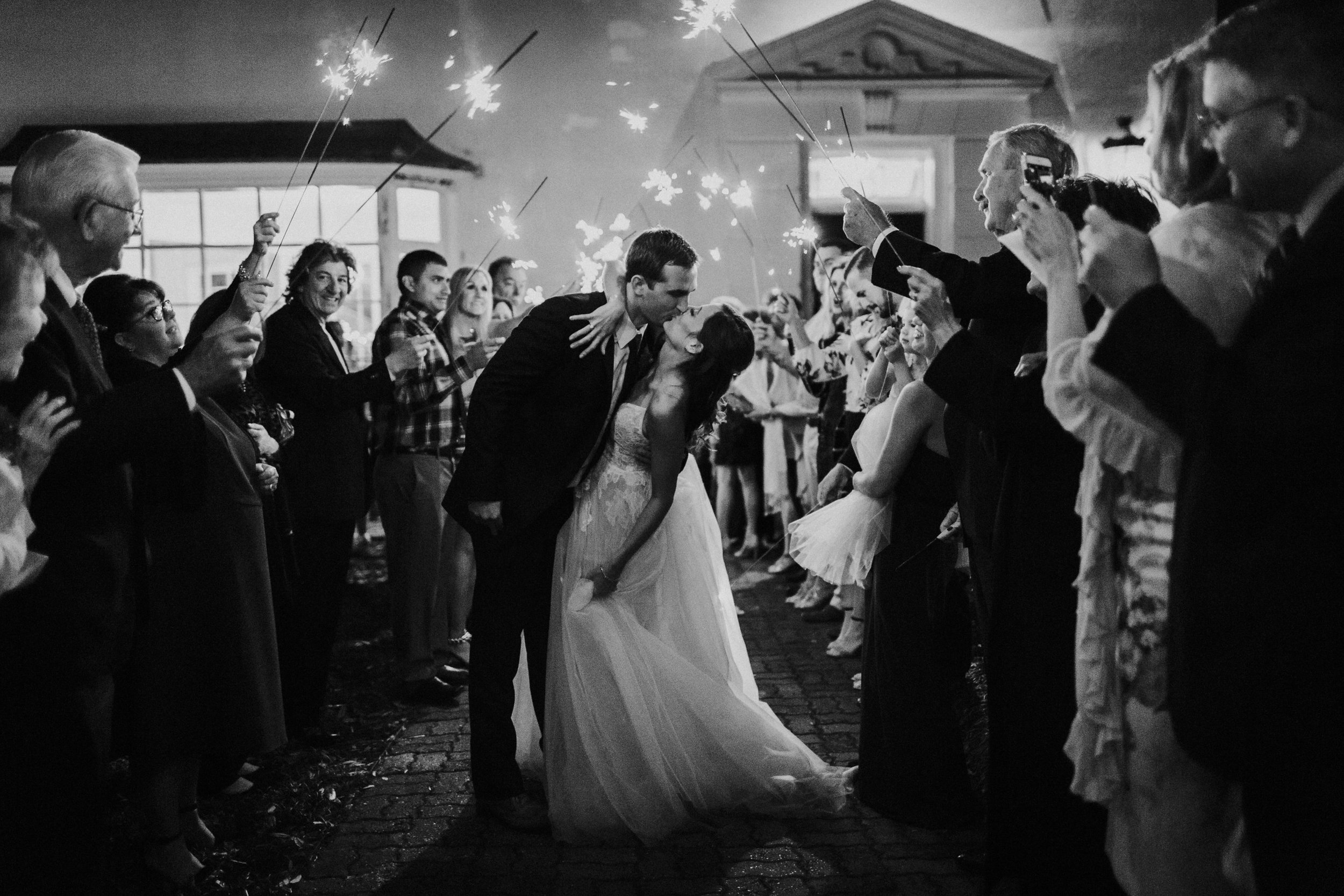 Southern Fete, Southern Wedding, Party Central, Sparklers, Bride and Groom exit