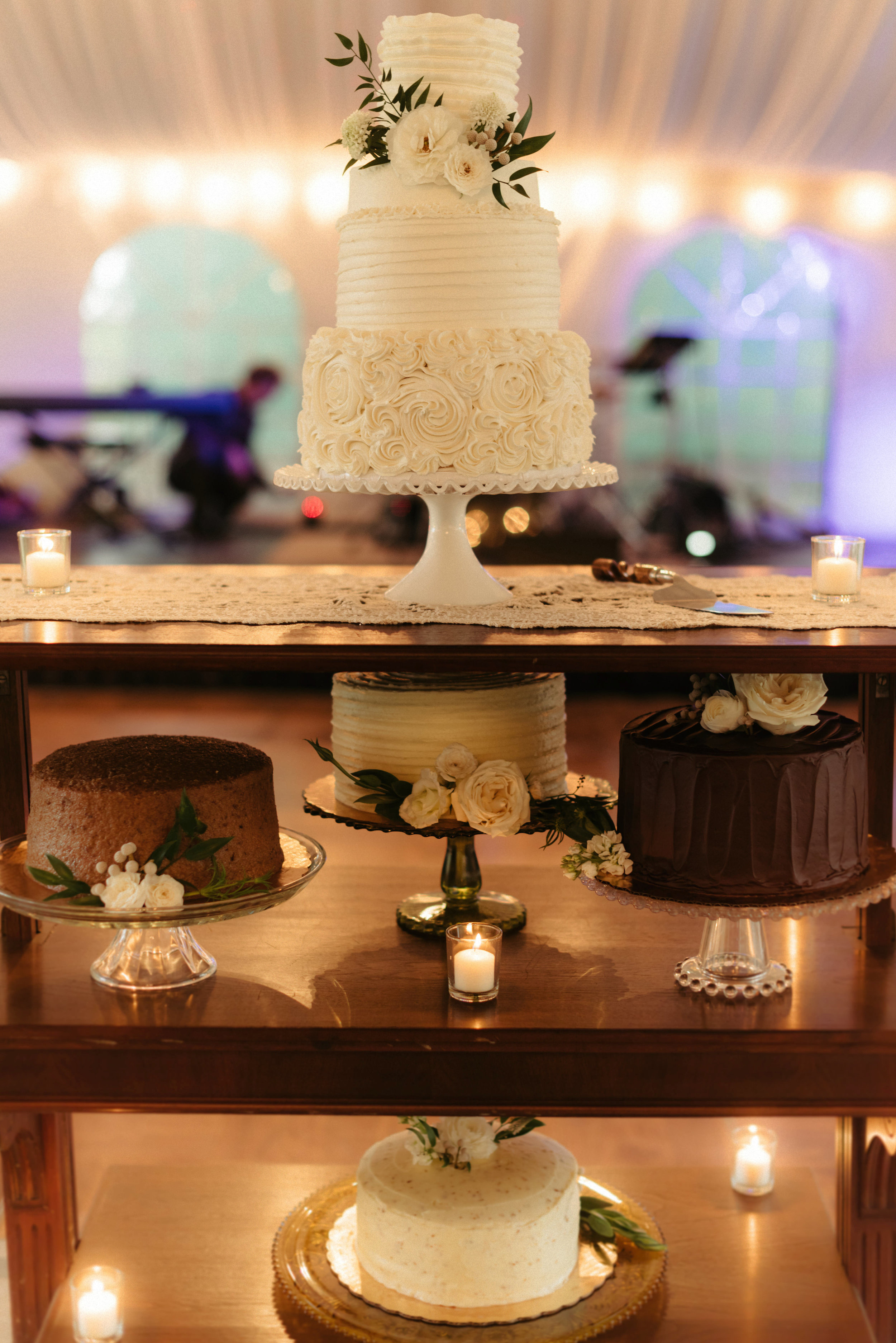 Southern Fete, Southern Wedding, Cake Table, Erin and Geoffrey Photography