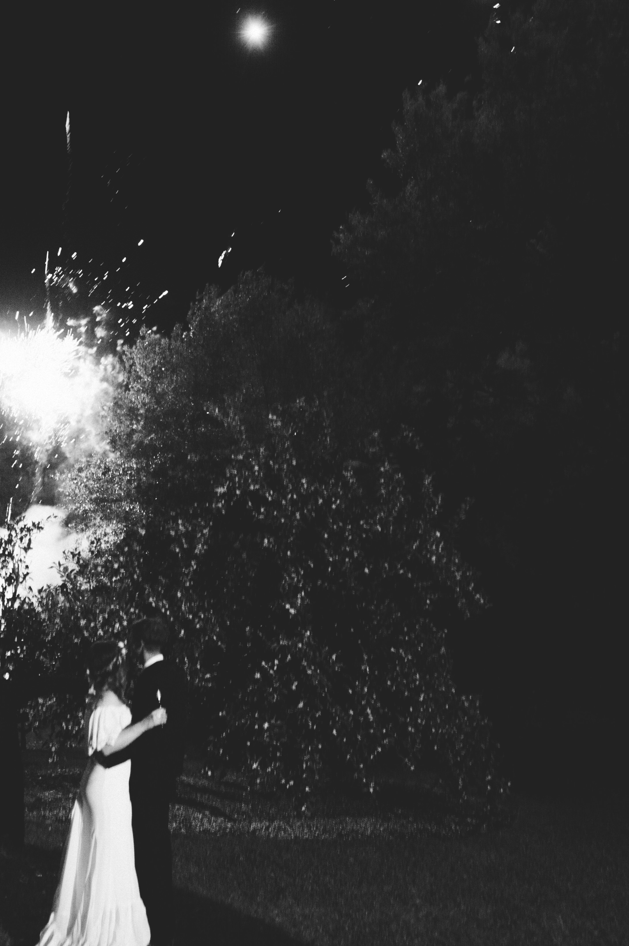 Southern Fete, Southern Wedding, Bride and Groom, Wedding Fireworks
