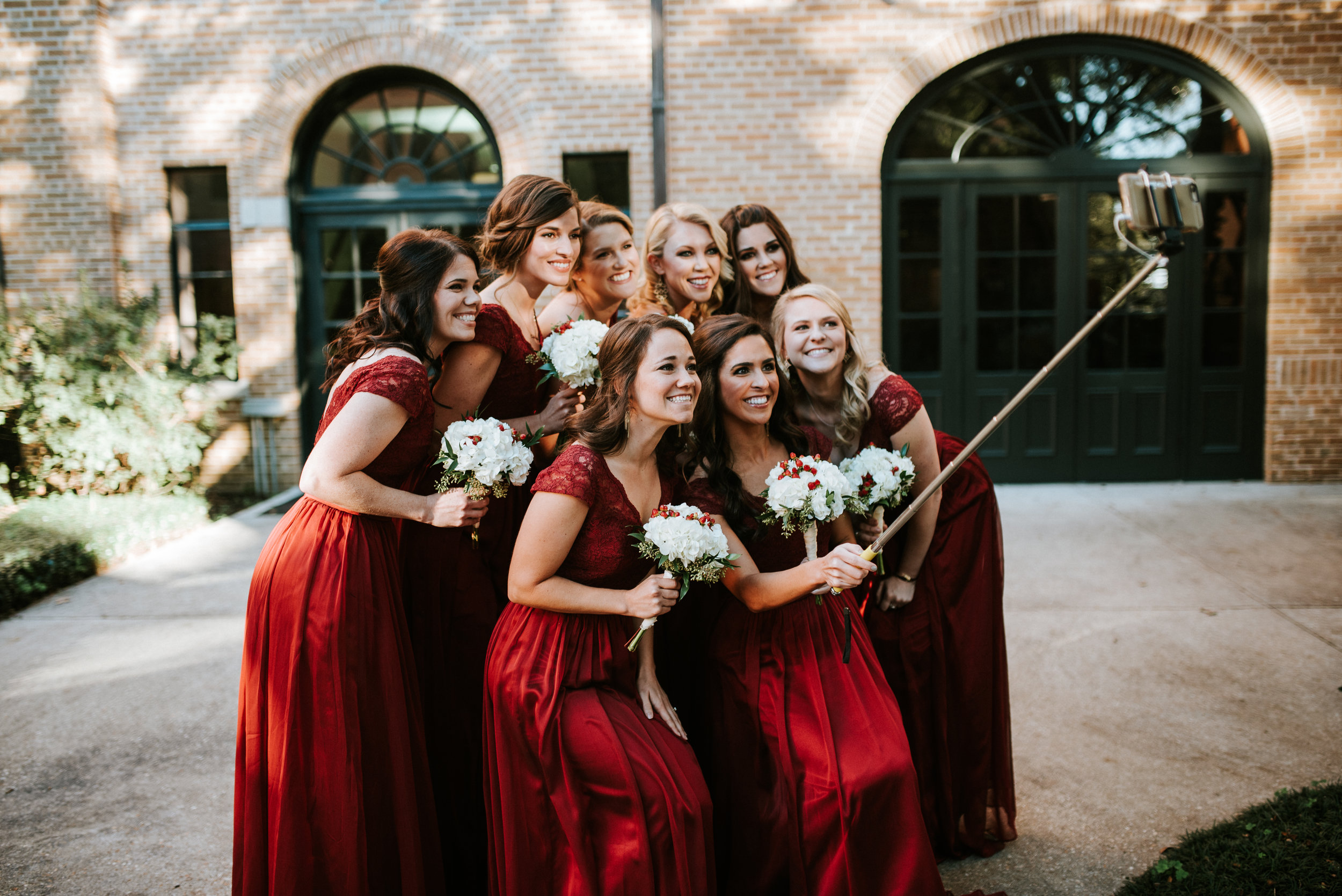 Southern Fete, Southern Wedding, Bridesmaid taking a selfie