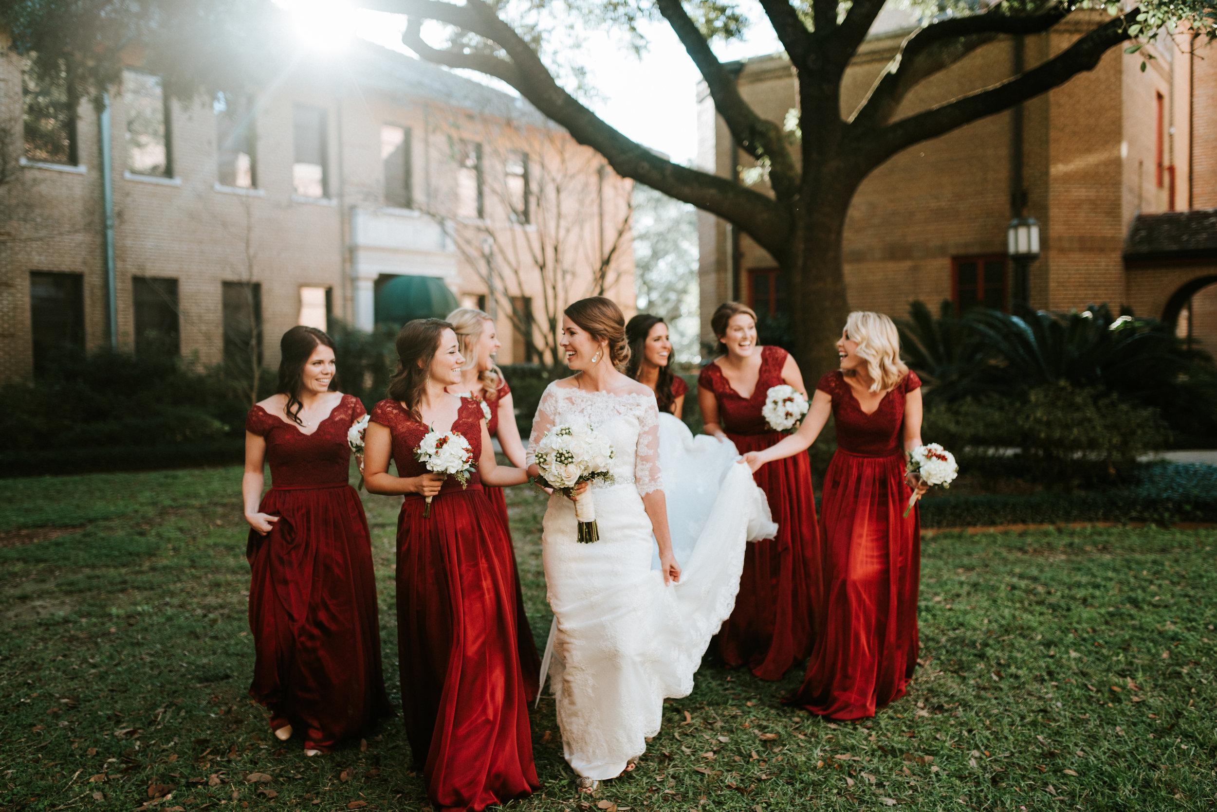 Southern Fete, Southern Wedding, Action Shot of Bridal Party, Hannah Mulligan Photography