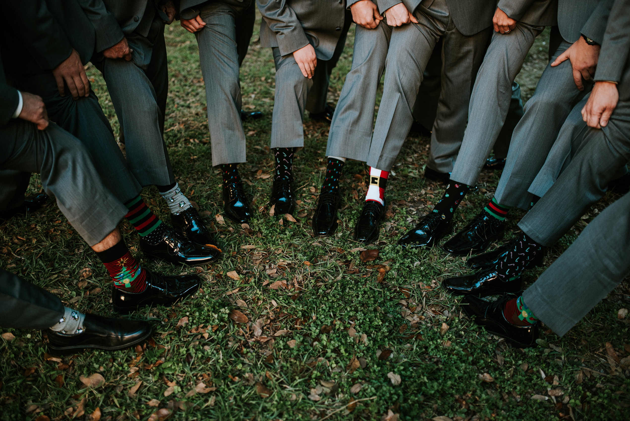 Southern Fete, Southern Wedding, Groomsman, Wedding Christmas dress socks, Hannah Mulligan Photography