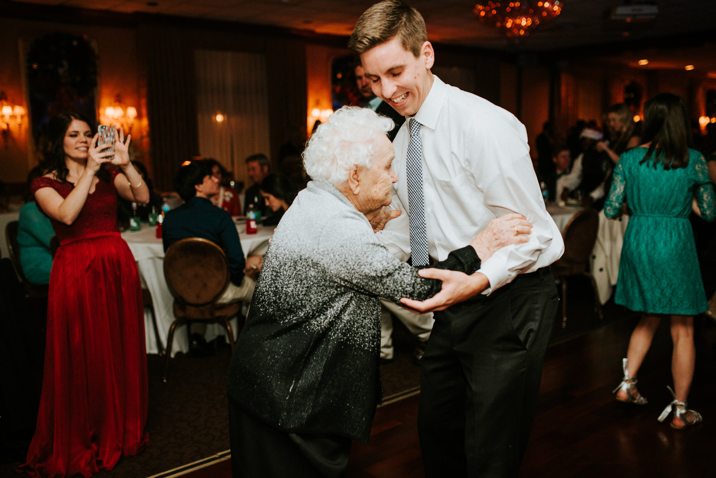 Southern Fete, Southern Wedding, Groom and his Grandma