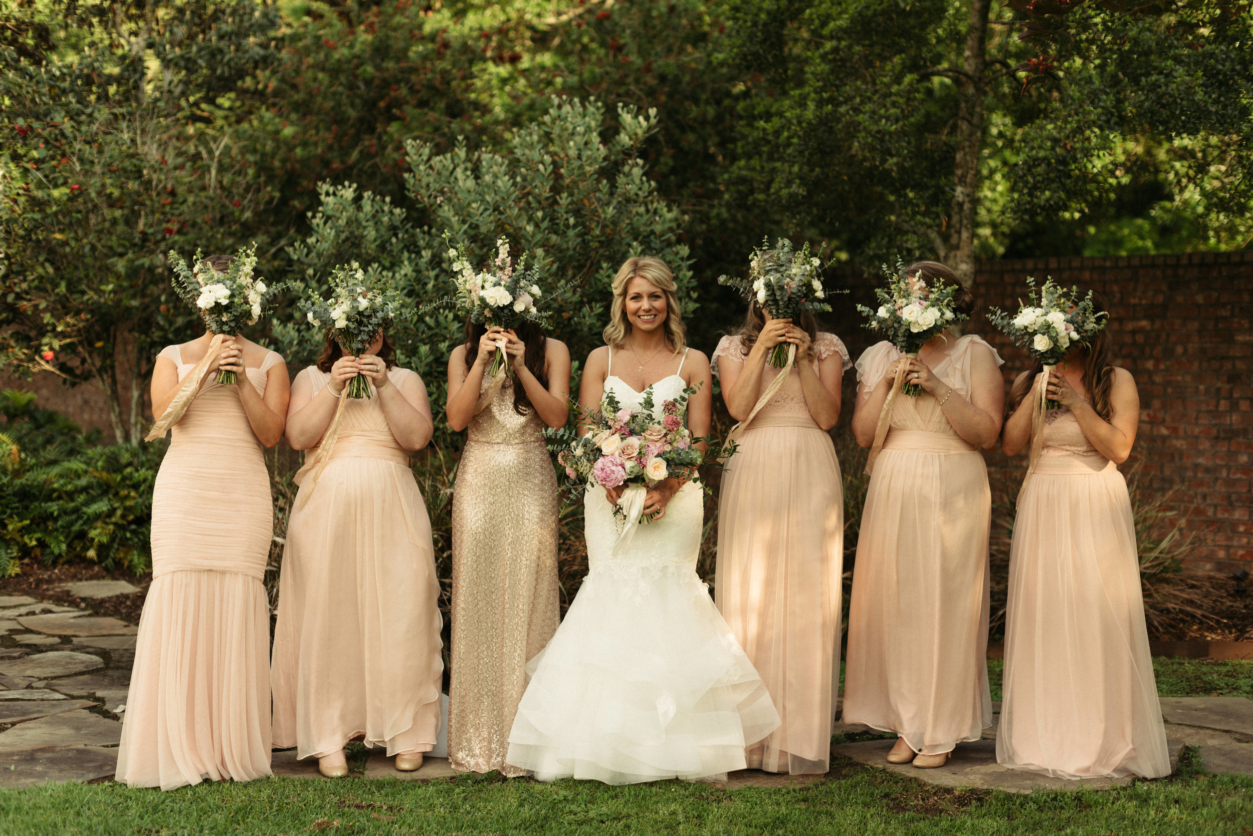 Southern Fete, Southern Wedding, Bride and Bridesmaid, Root Floral Design, Erin and Geoffrey Photography, 63 Films