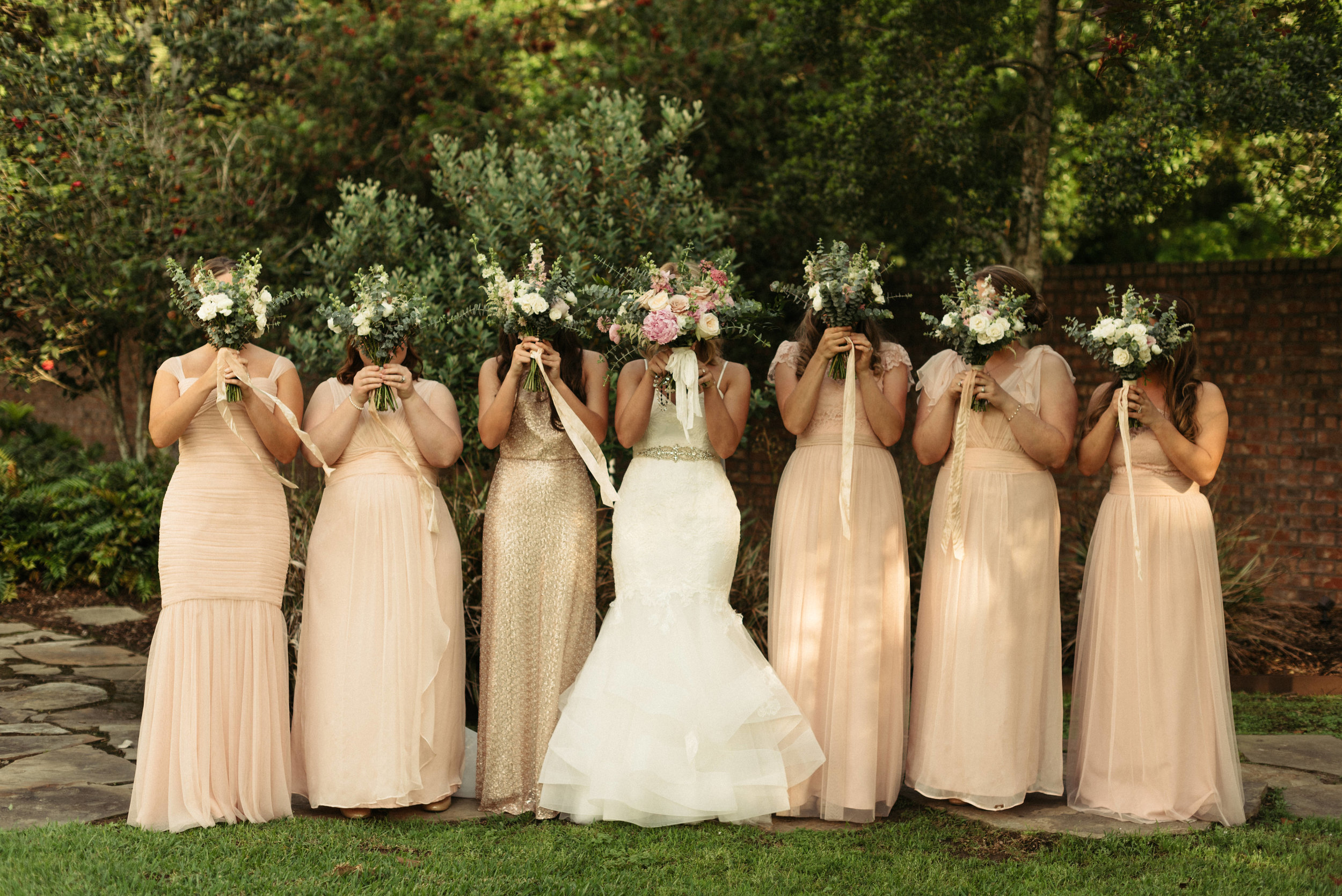 Southern Fete, Southern Wedding, Root Floral Design, Pink, White and Cream Floral Bouquet, Petroleum Club, Erin and Geoffrey Photography