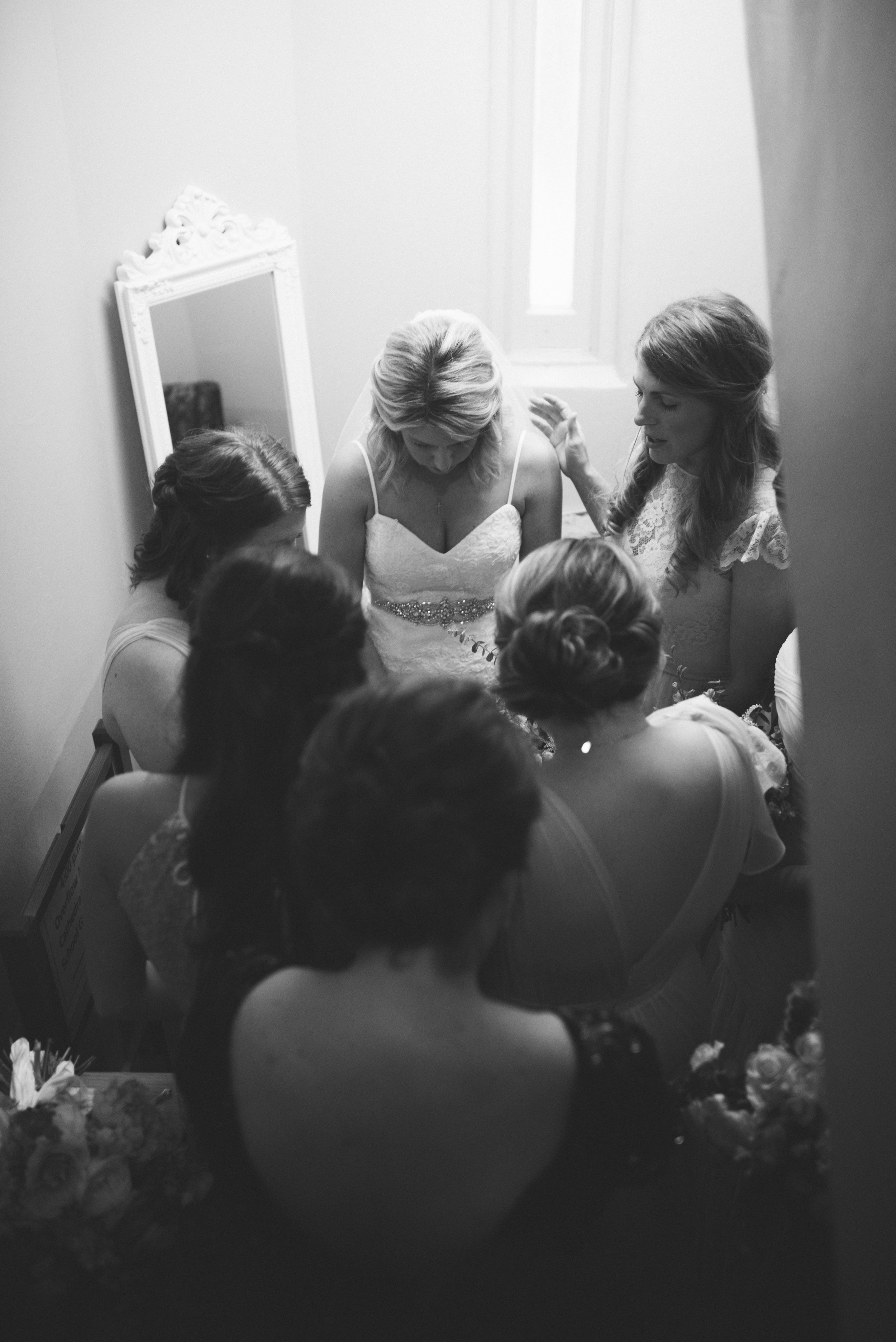 Southern Fete, Southern Wedding, Bride and Bridesmaid, Erin and Geoffrey Photography, Petroleum Club