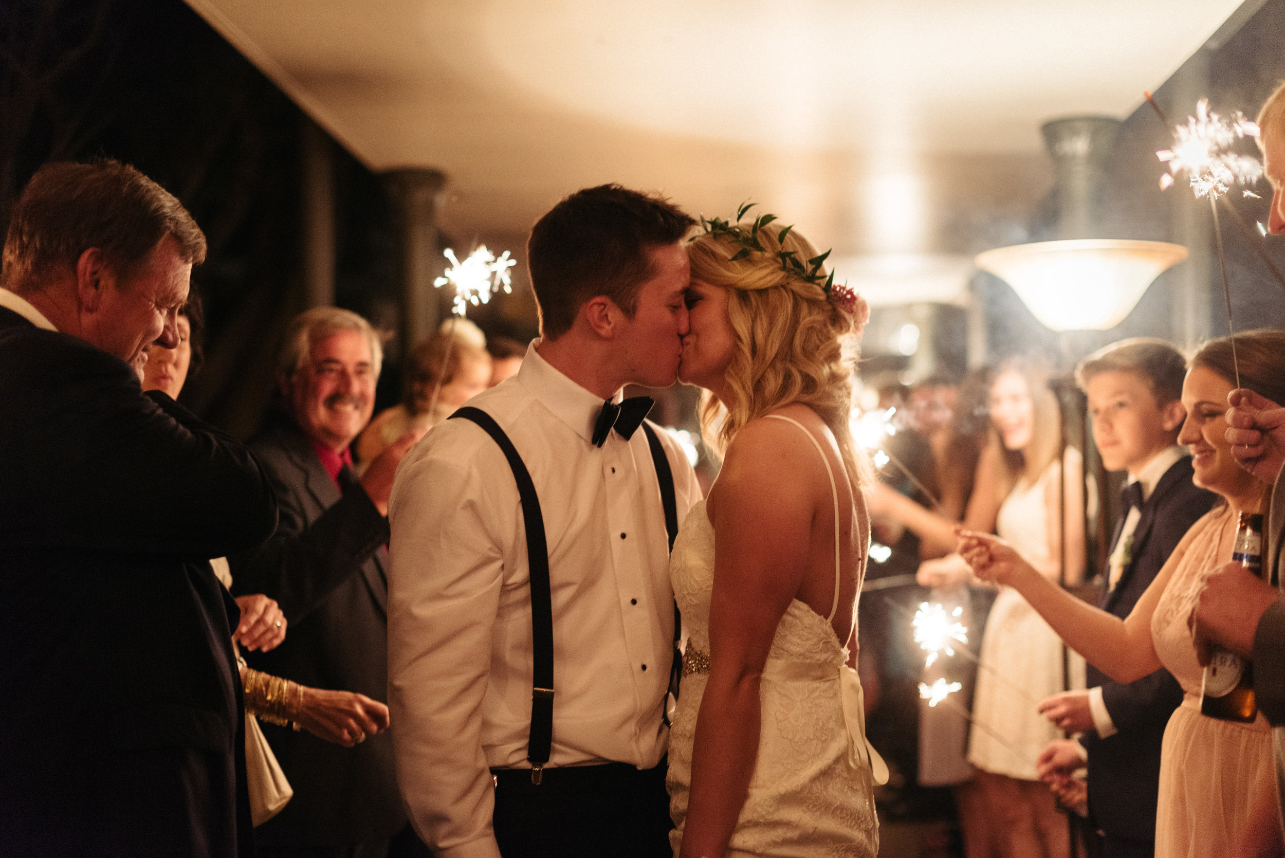 Southern Fete, Southern Wedding, Bride and Groom, Reception exit, Sparkler's, Erin and Geoffrey Photography