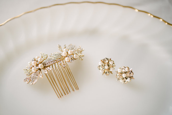 Southern Fete, Southern Wedding, Bride Pin and Earrings, Hannah Mulligan Photography