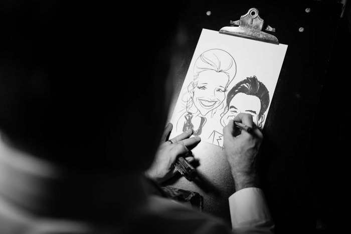 Southern Fete, Southern Wedding, Hannah Mulligan Photography, Caricatures