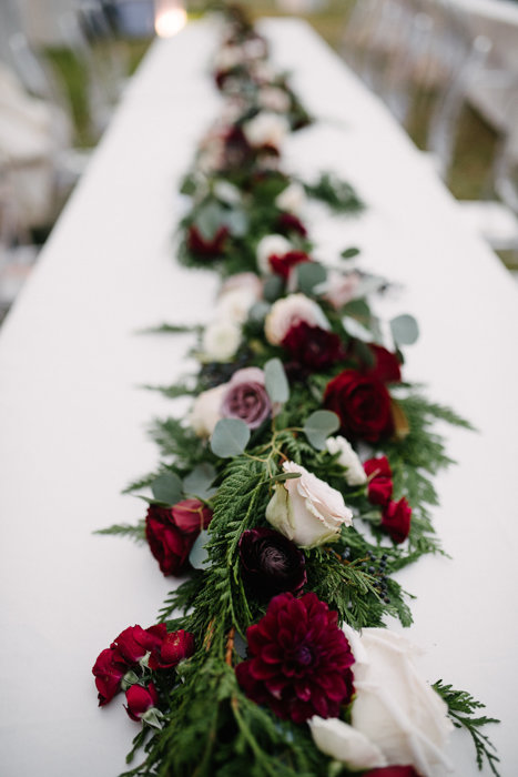 Southern Fete, Southern Wedding, Root Floral Design, Red and White Center Piece