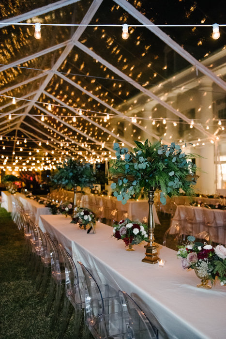 Southern Fete, Southern Wedding, Tent Wedding, Root Floral Design, Center Pieces
