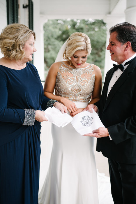 Southern Fete, Southern Weddings, Bride and her Parents, Hannah Mulligan Photography