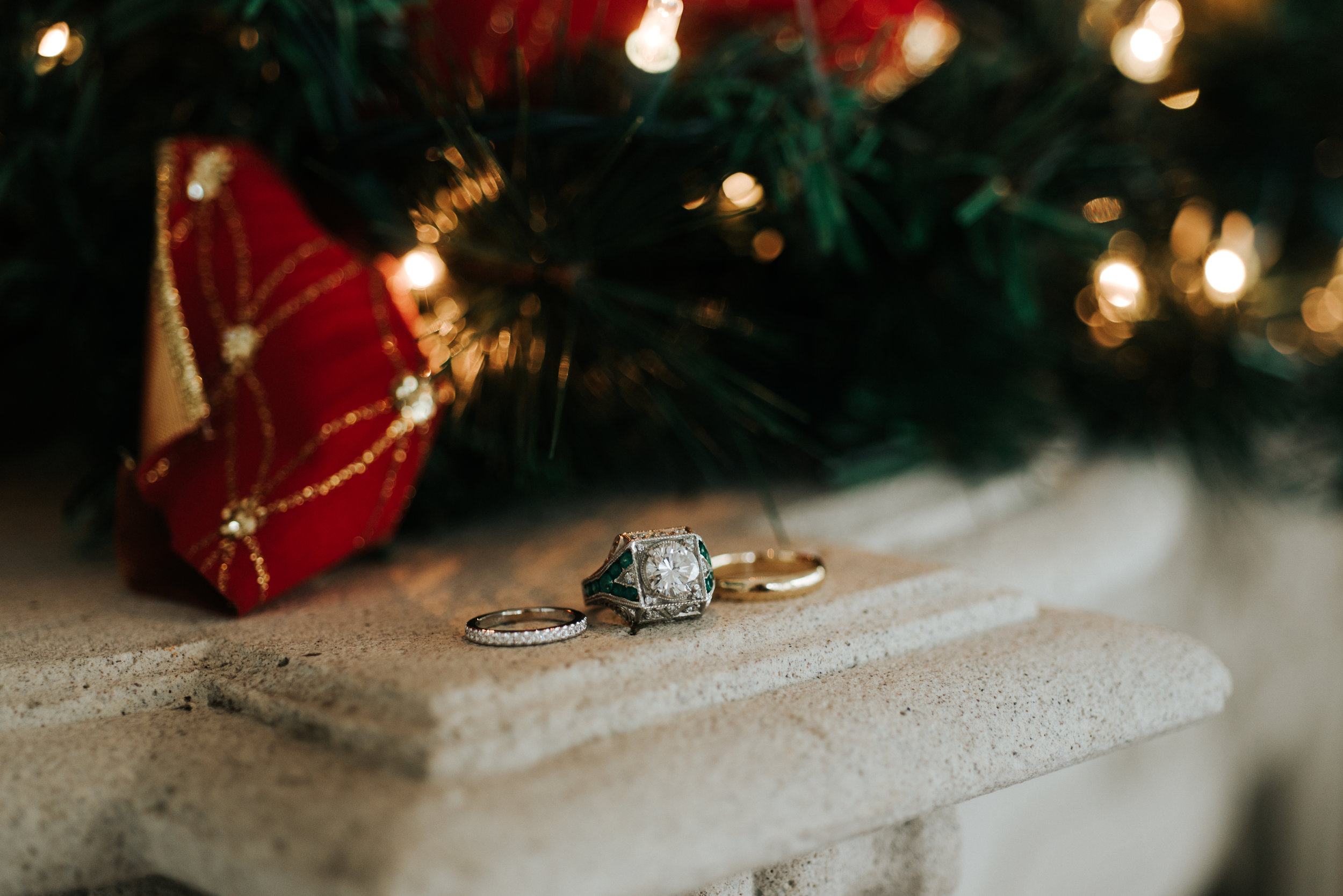 Southern Fete, Southern Wedding, Christmas Wedding, Bride and Groom rings