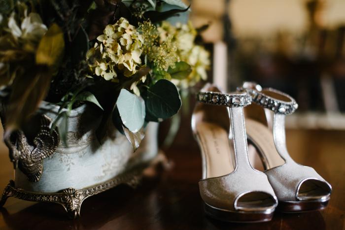 Southern Fete, Southern Wedding, Antonio Milani, Bride's Shoes, Hannah Mulligan Photography