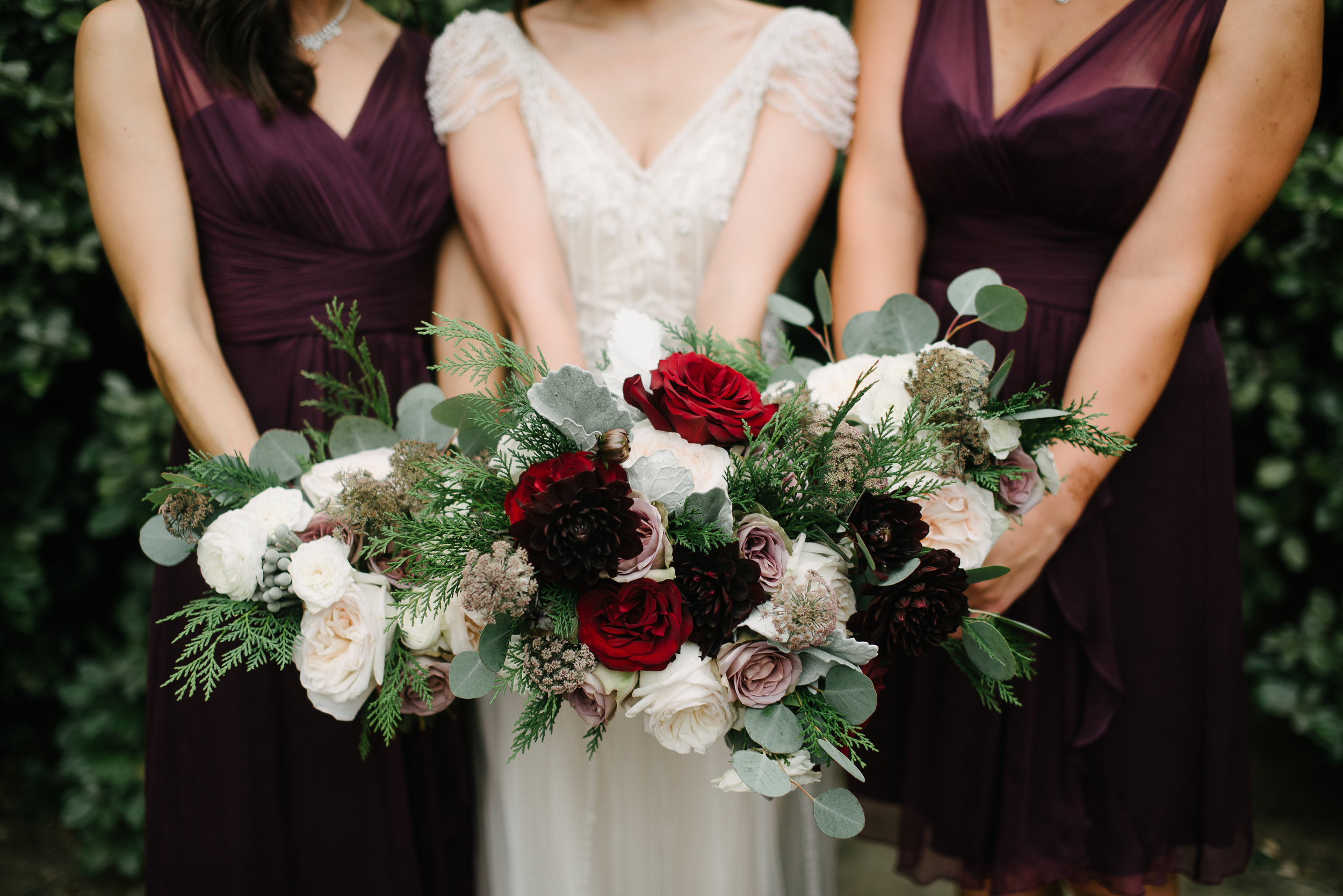 Southern Fete, Southern Wedding, Root Floral Design, Bride and Bridesmaid Bouquet