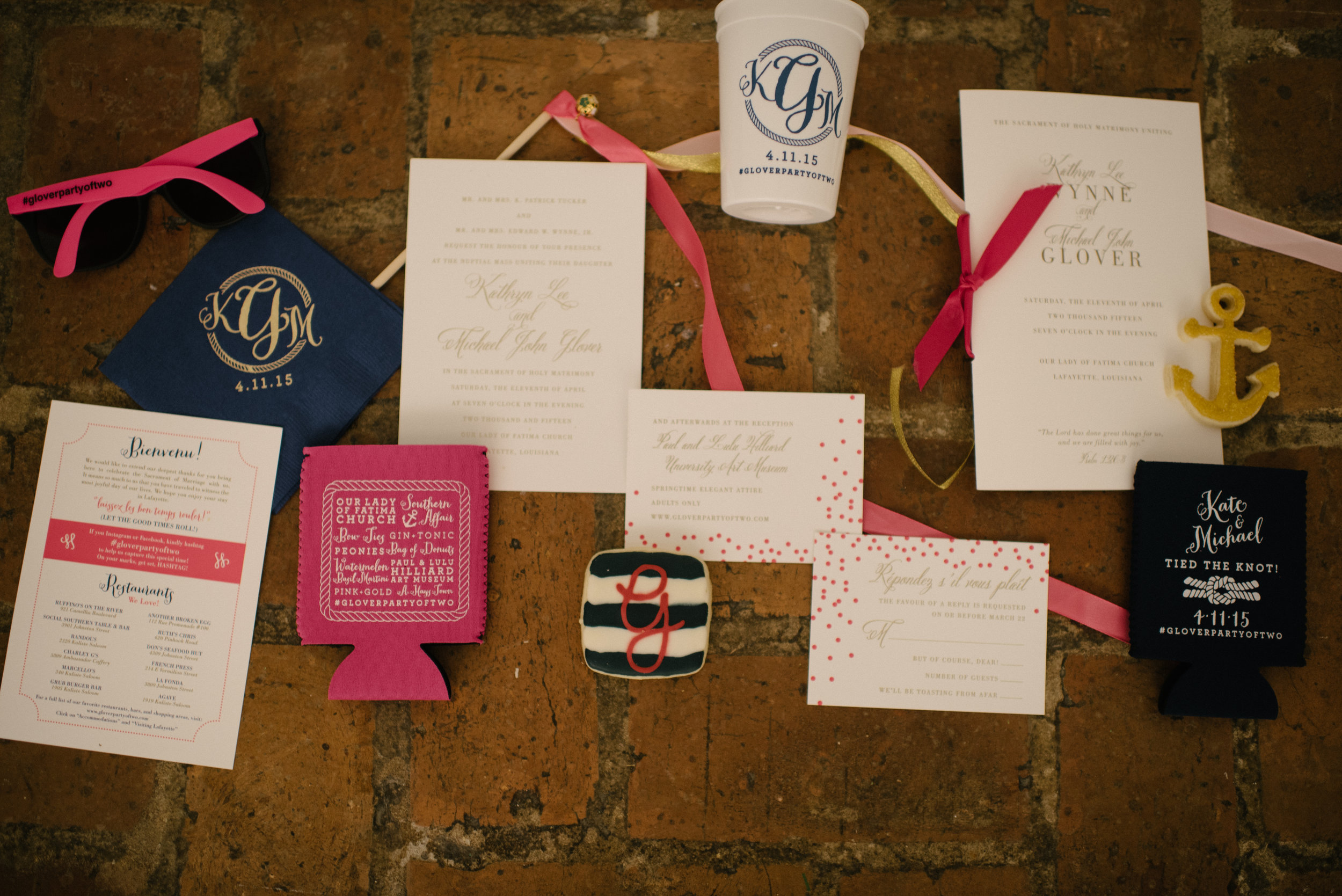 Southern Fete, Southern Wedding, Inkling Design Studio, Party Favors