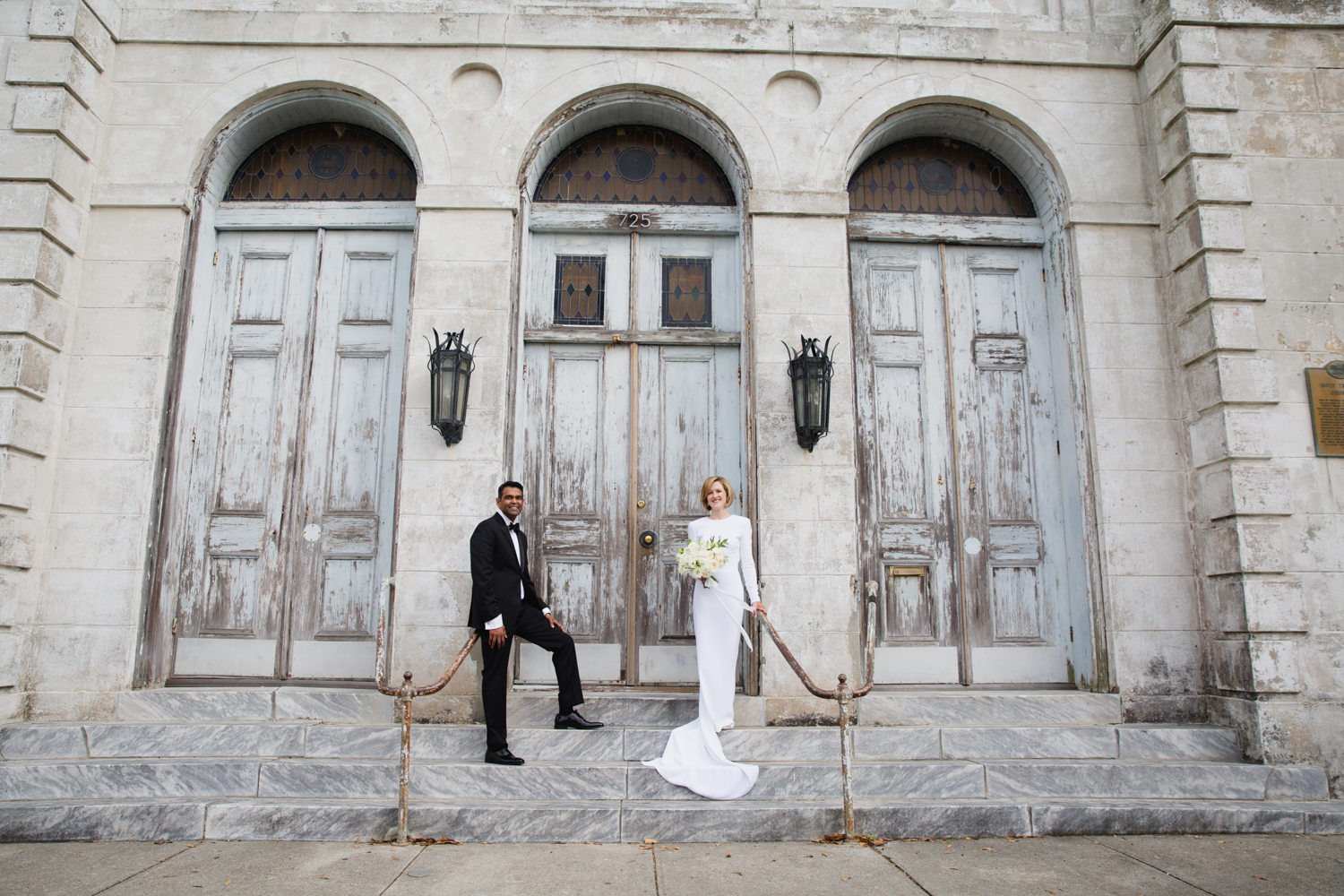Southern Fete, Southern Wedding, The Marigny Opera House, Bride and Groom, E Ray Photo