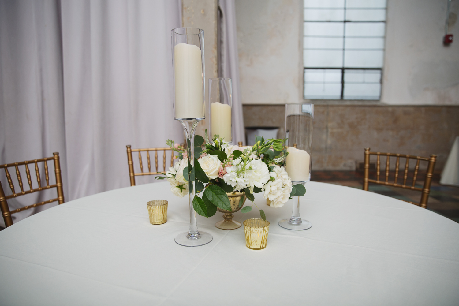Southern Fete, Southern Wedding, Candle Center Piece, White and Green Flower Bouquet, Root Floral Design, Firefly Ambiance